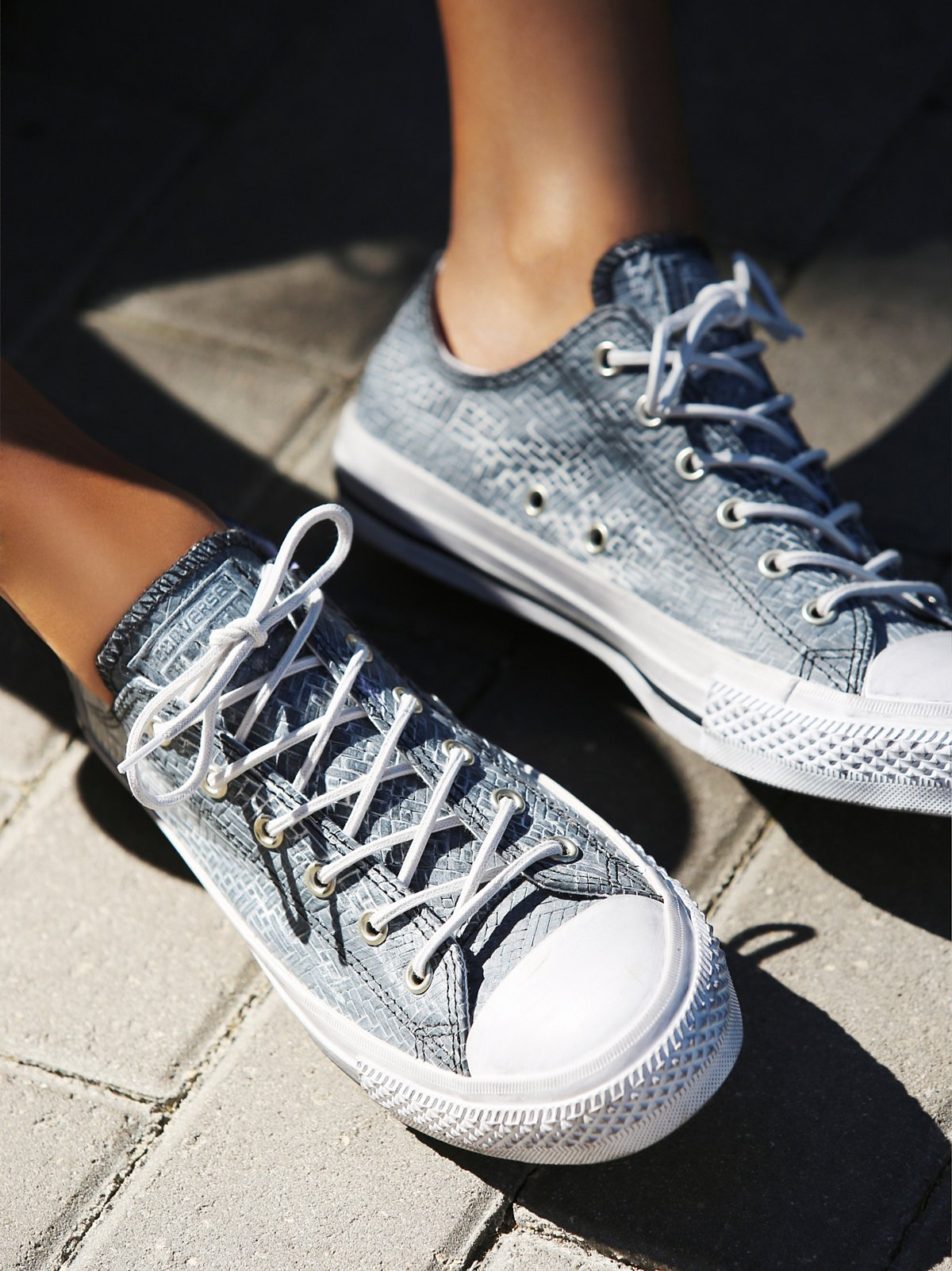 Embossed Woven Low Tops