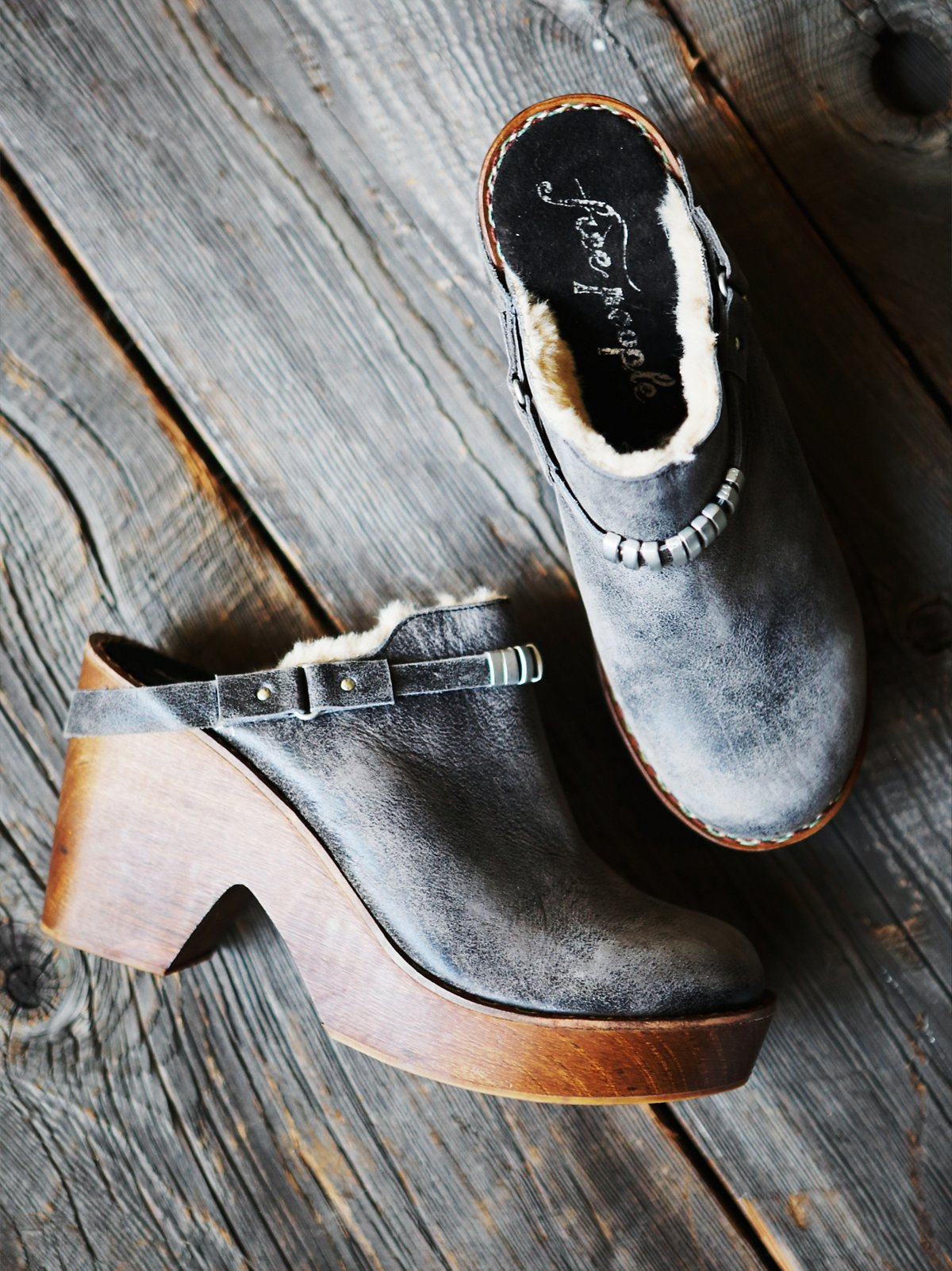 Premier懒人木底鞋