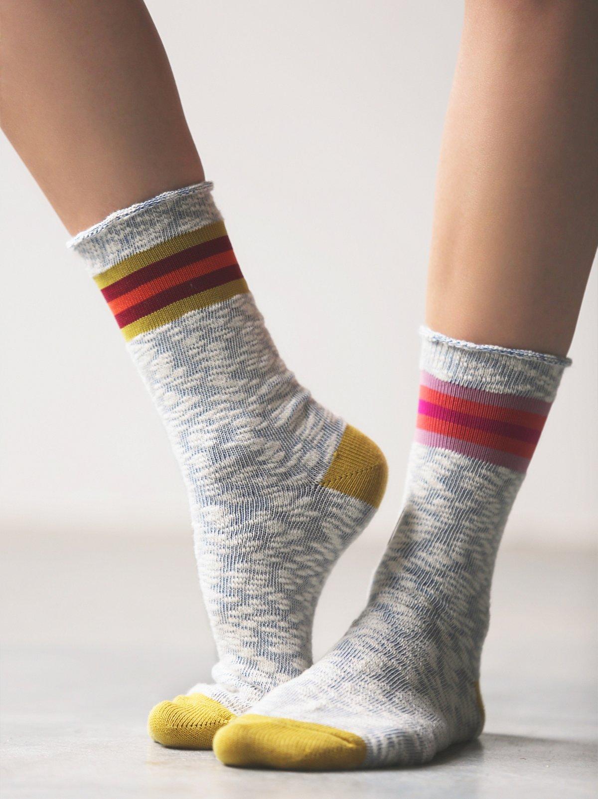 混搭水手袜