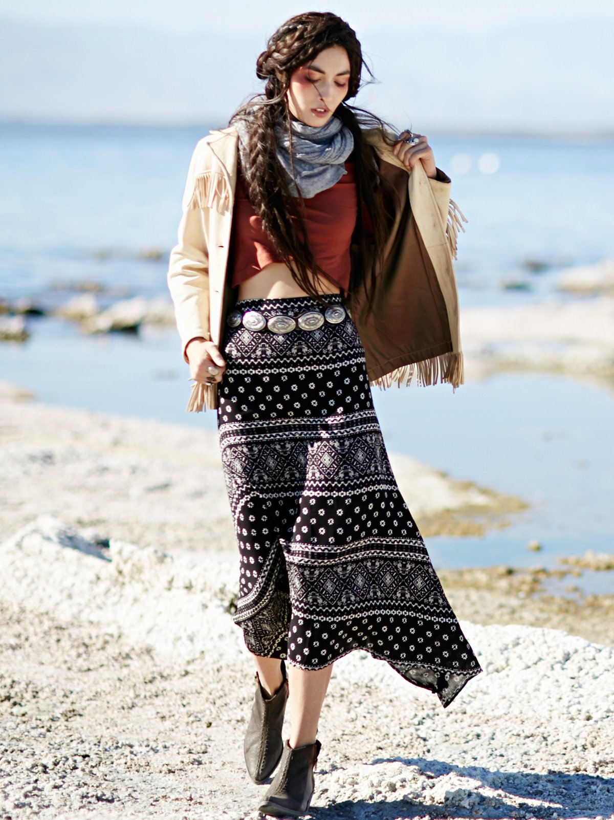 Arabella Printed Maxi Skirt