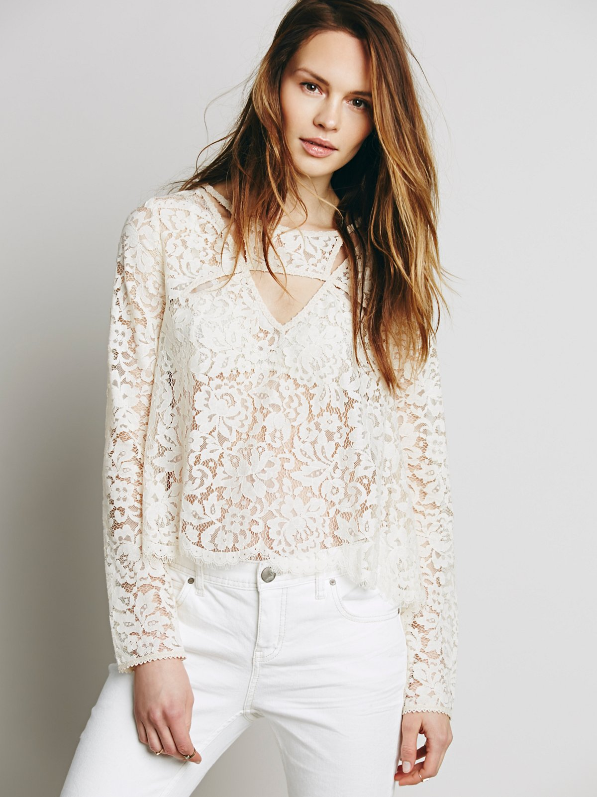 Lace Cutout Top