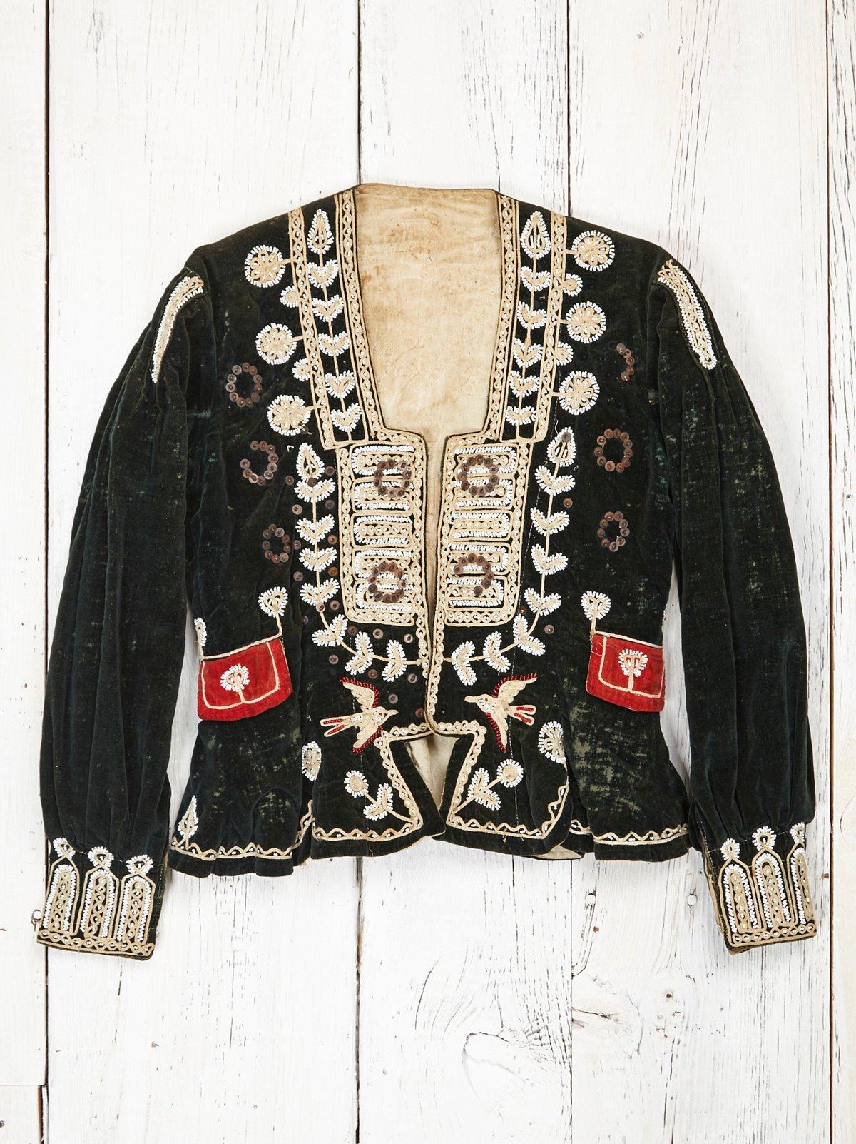 Vintage Beaded Velvet Jacket