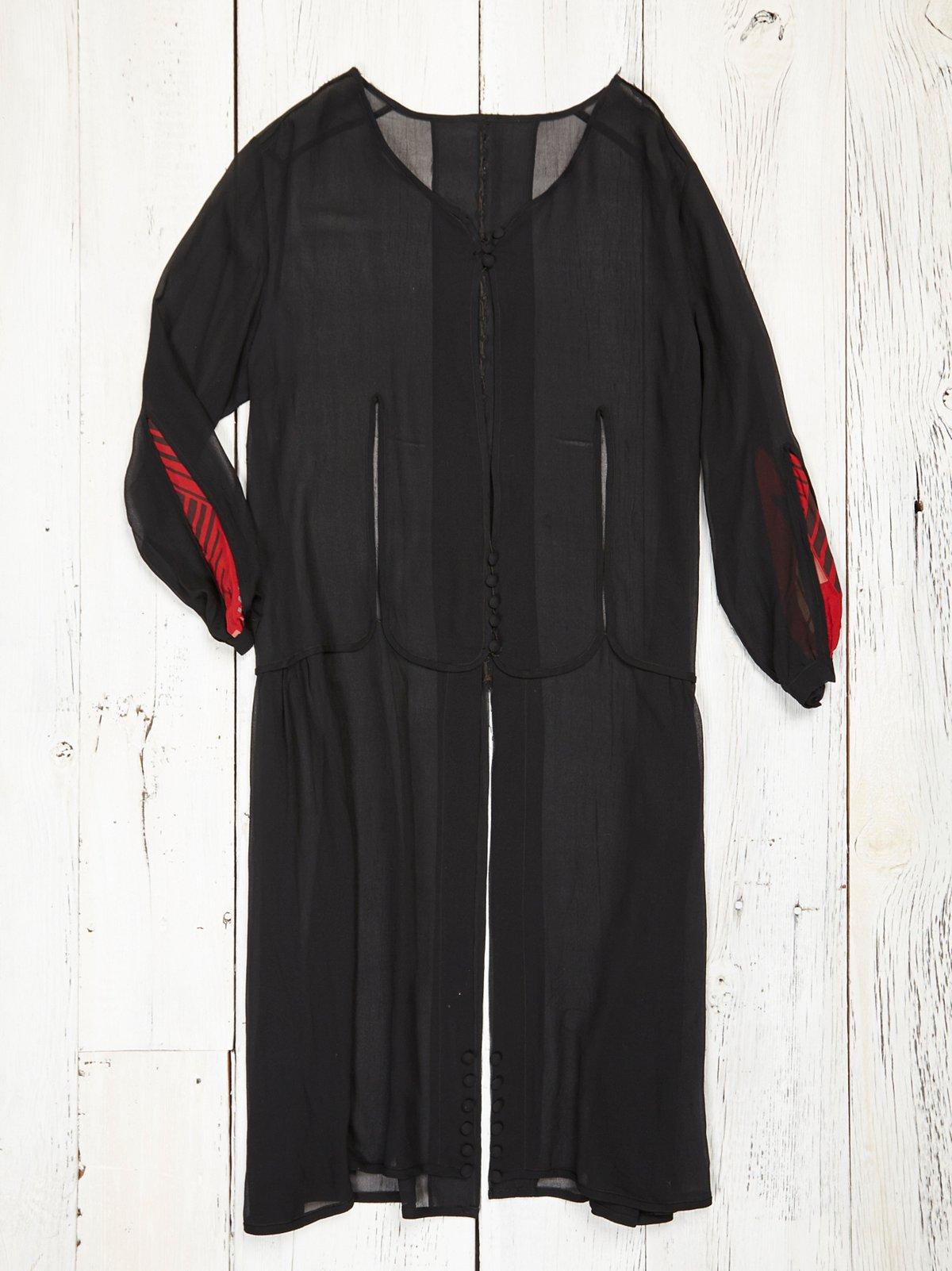 Vintage Black Chiffon Jacket
