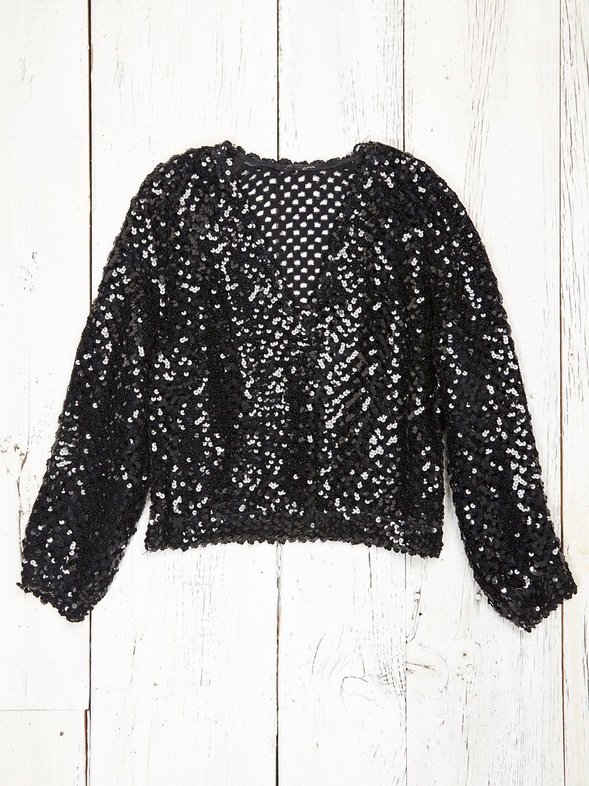 Vintage Black Sequin Sweater