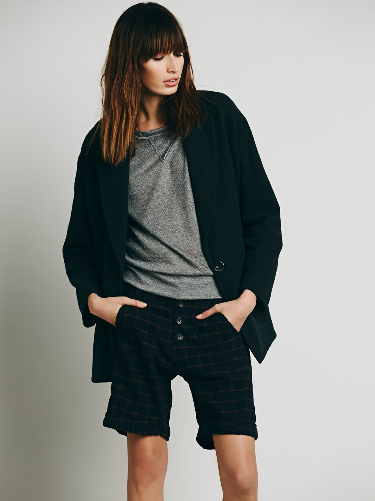 Newton Plaid Trouser Shorts