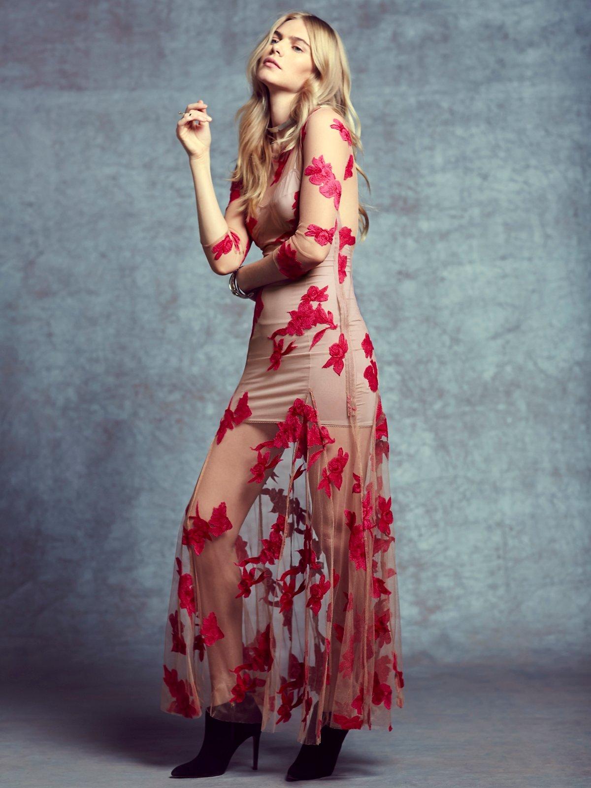 Orchid及踝连衣裙