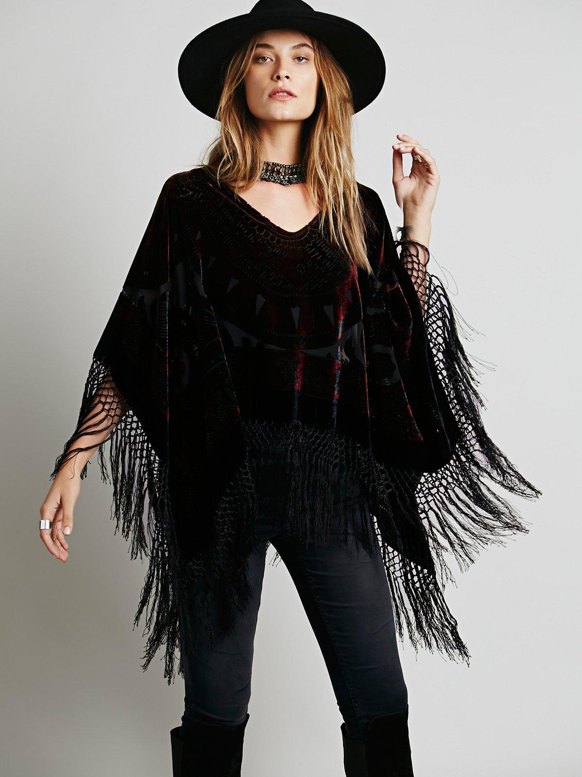 Janis Velvet Pullover Poncho