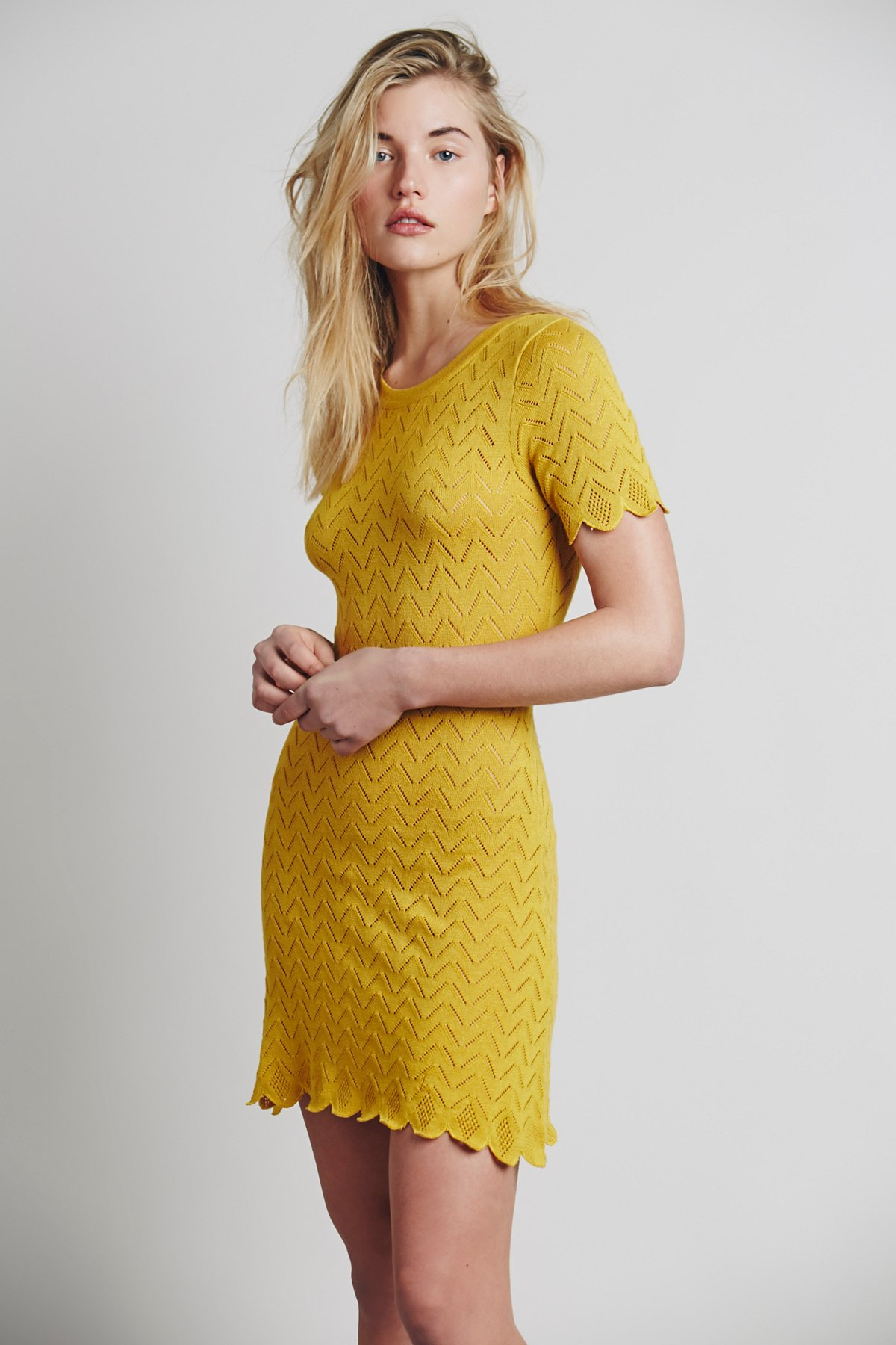 Lemon Drop T Shirt Dress