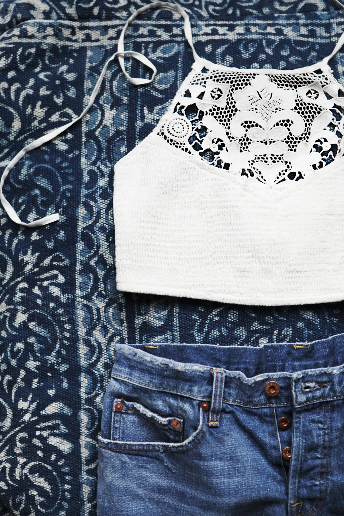 FP ONE Crochet High Neck Bra