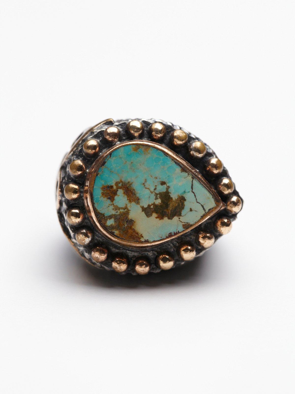 绿松石水滴形戒指