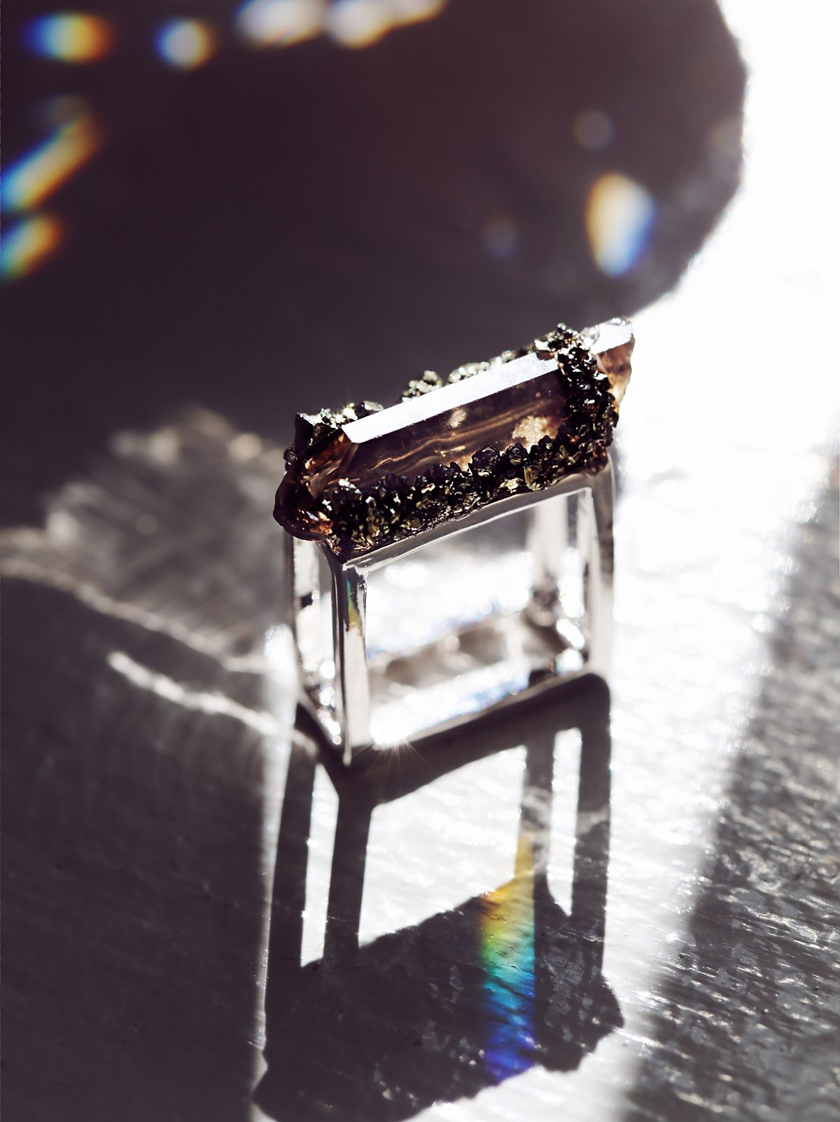 Quartz Square Ring