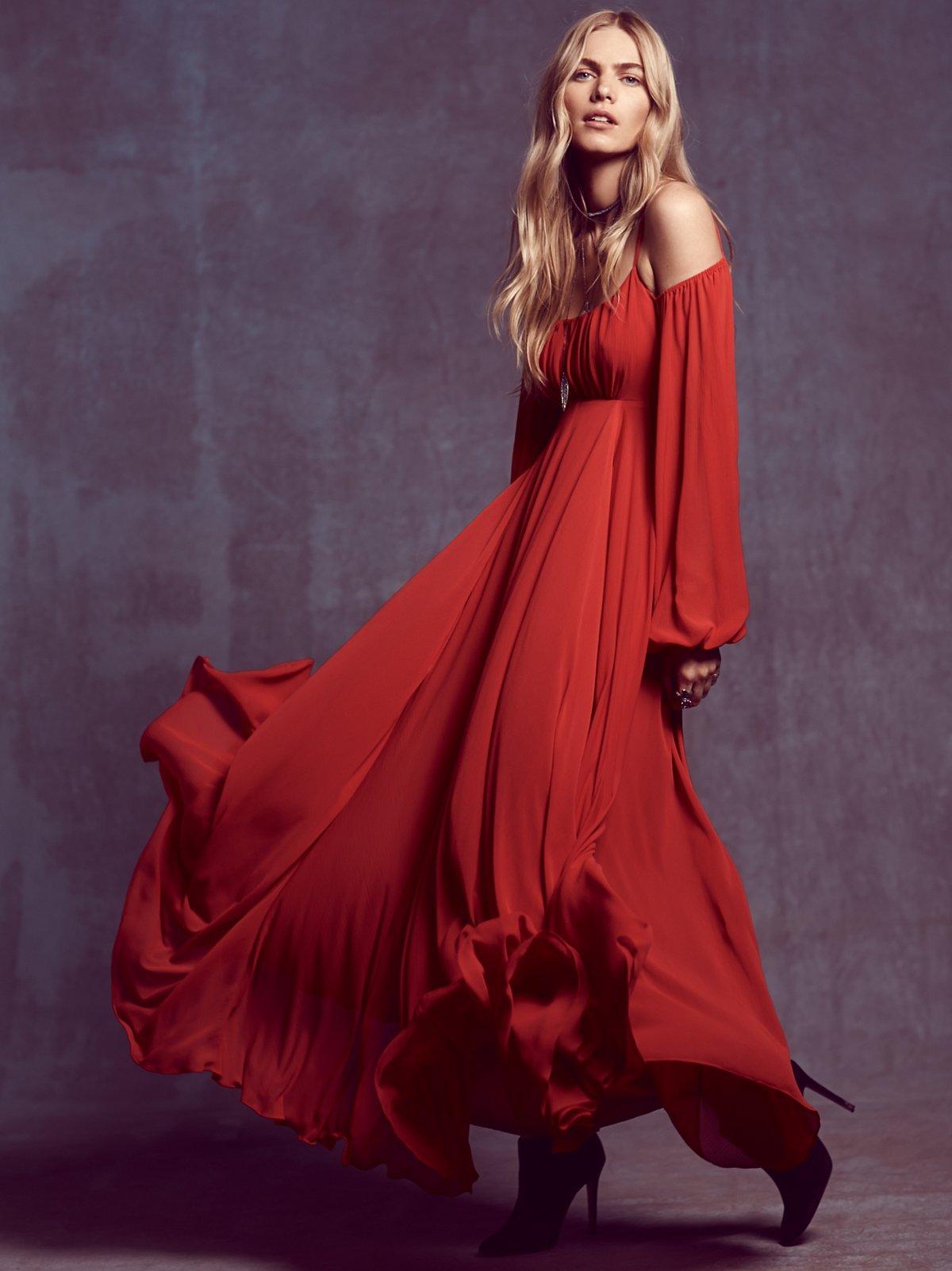 Ruby Red Sun长裙