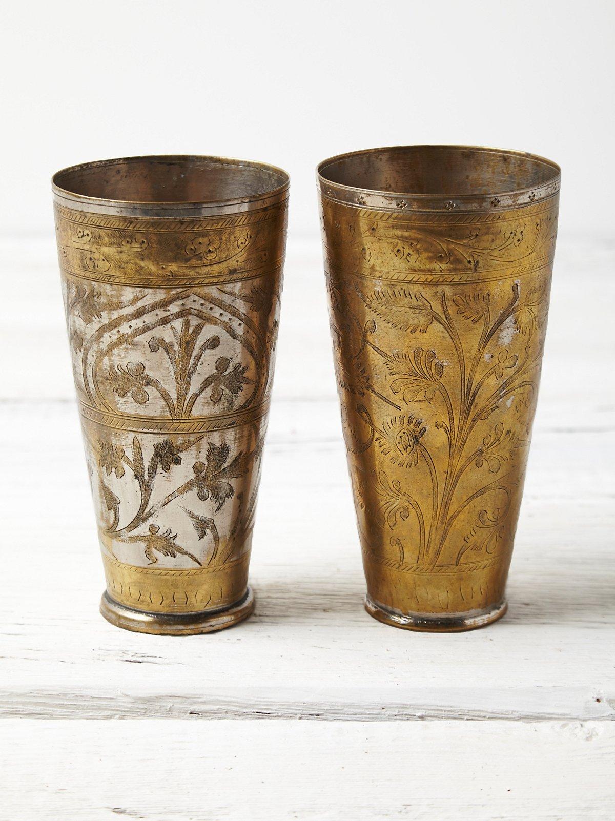 Vintage Loves One of a Kind Brass Goblets