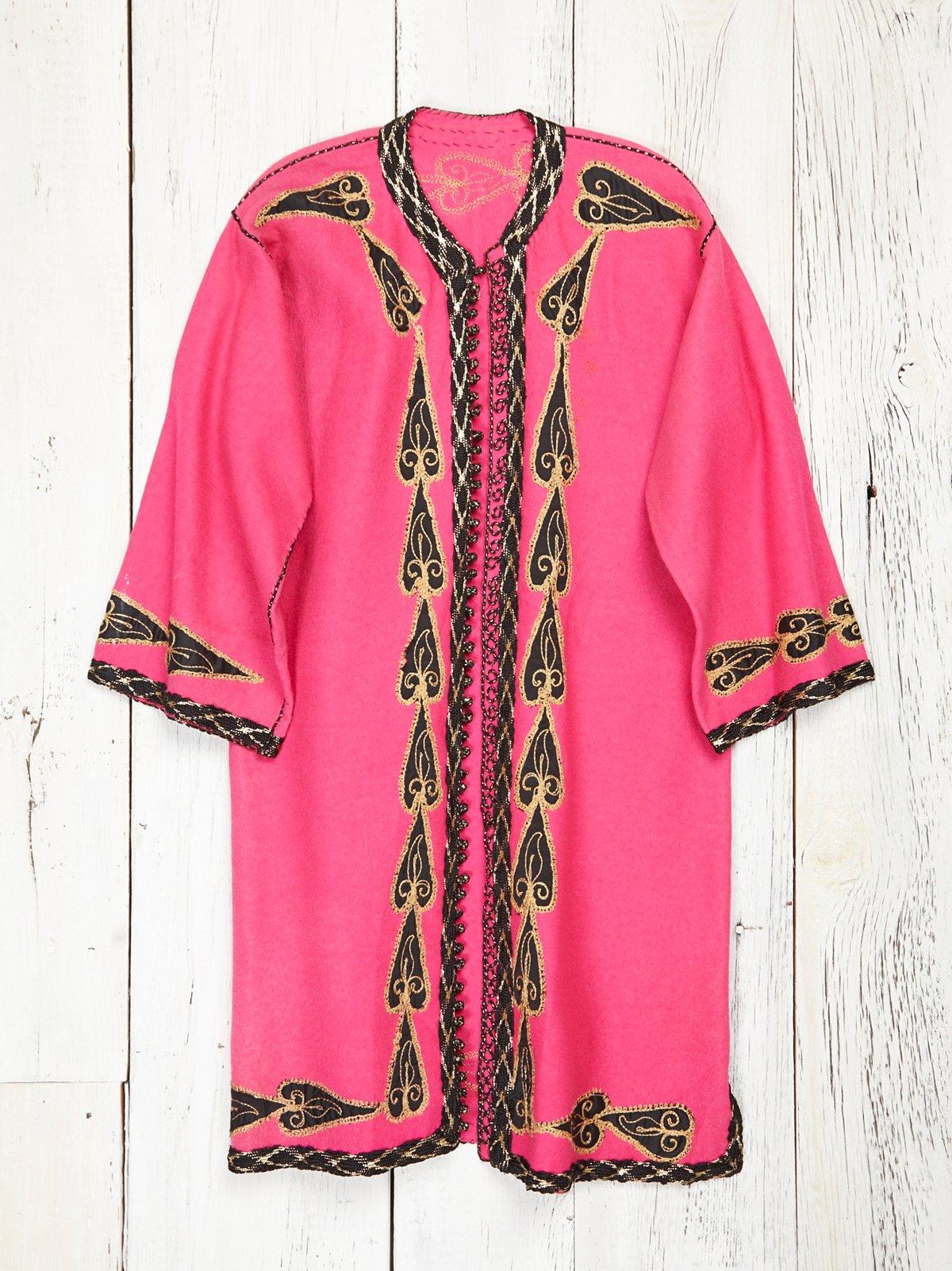 Vintage Pink Felt Coat