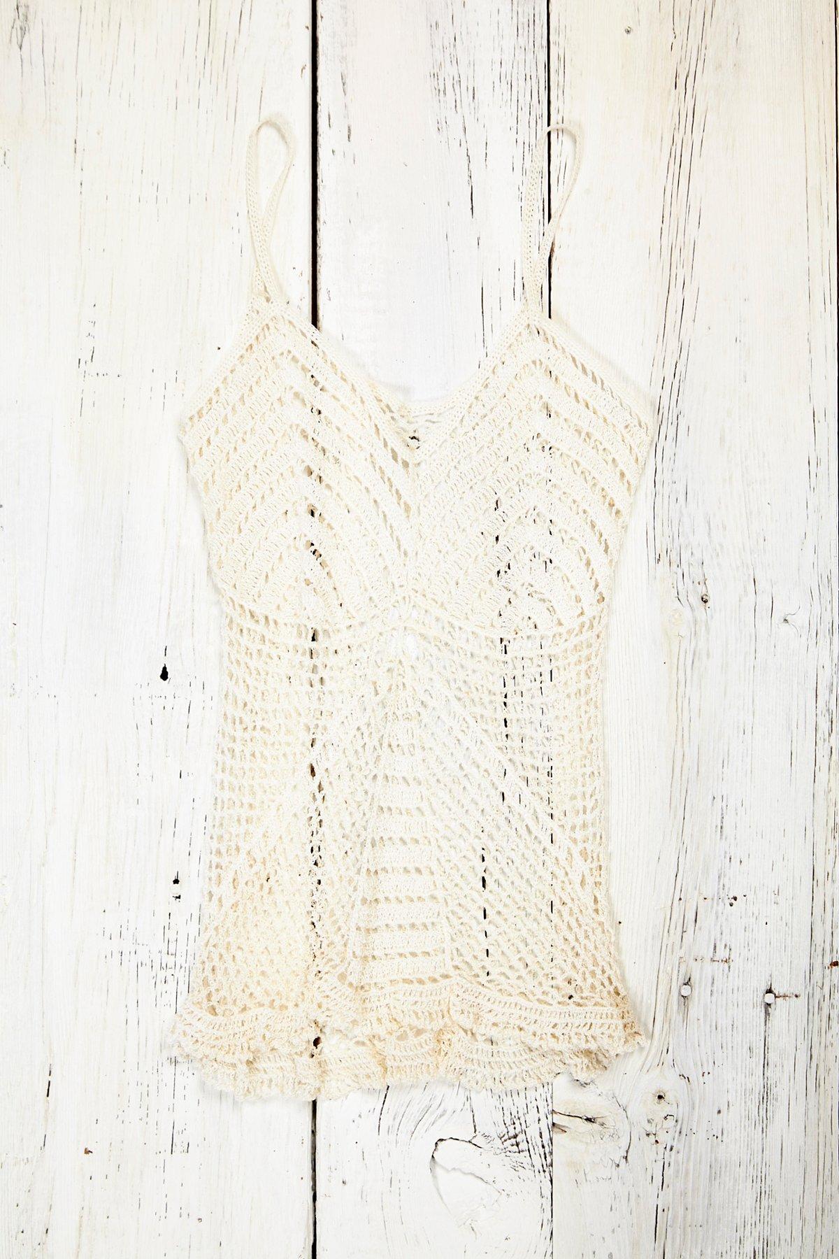 Vintage Cream Crochet Tank