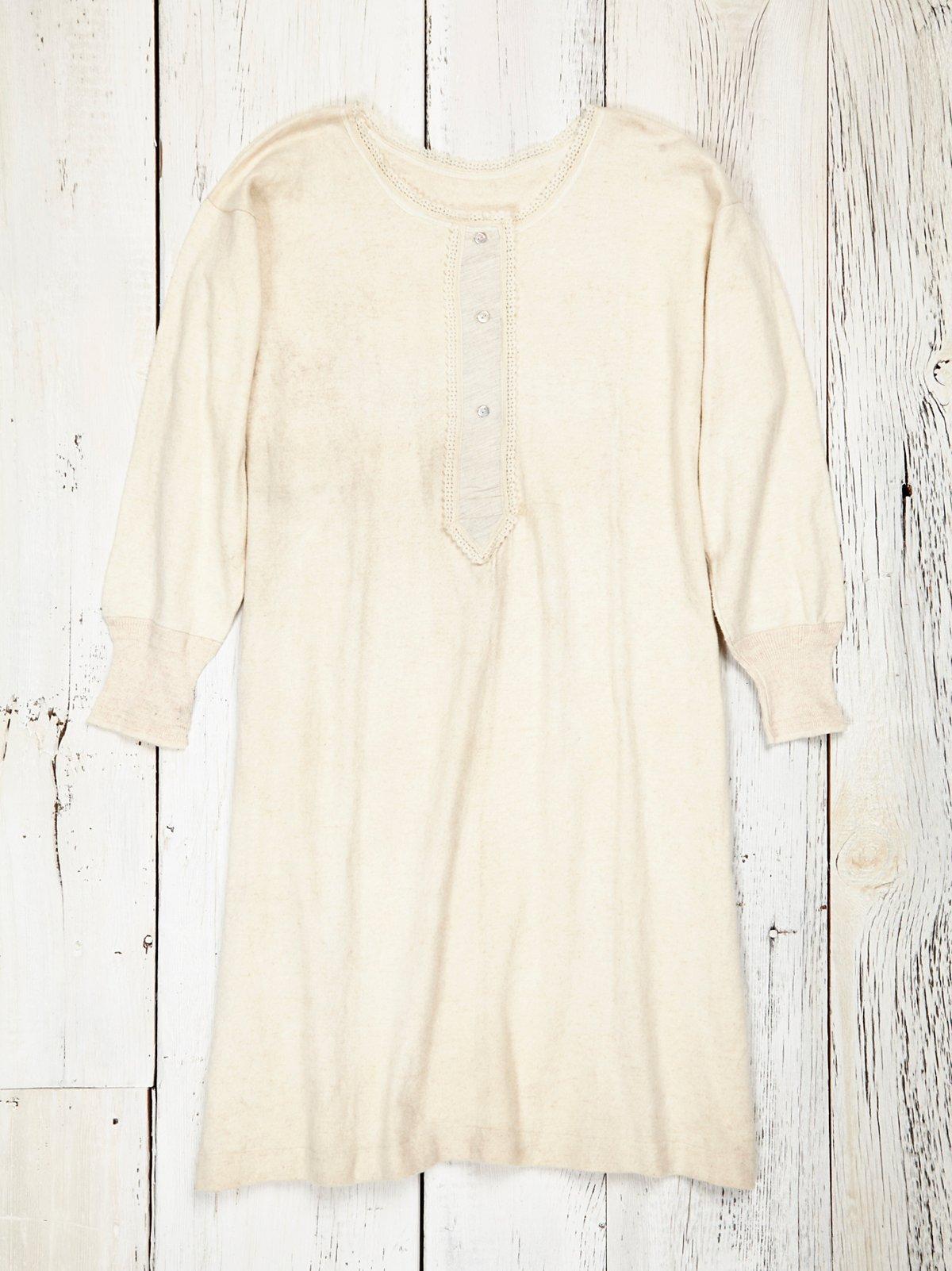 Vintage Soft Wool Henley