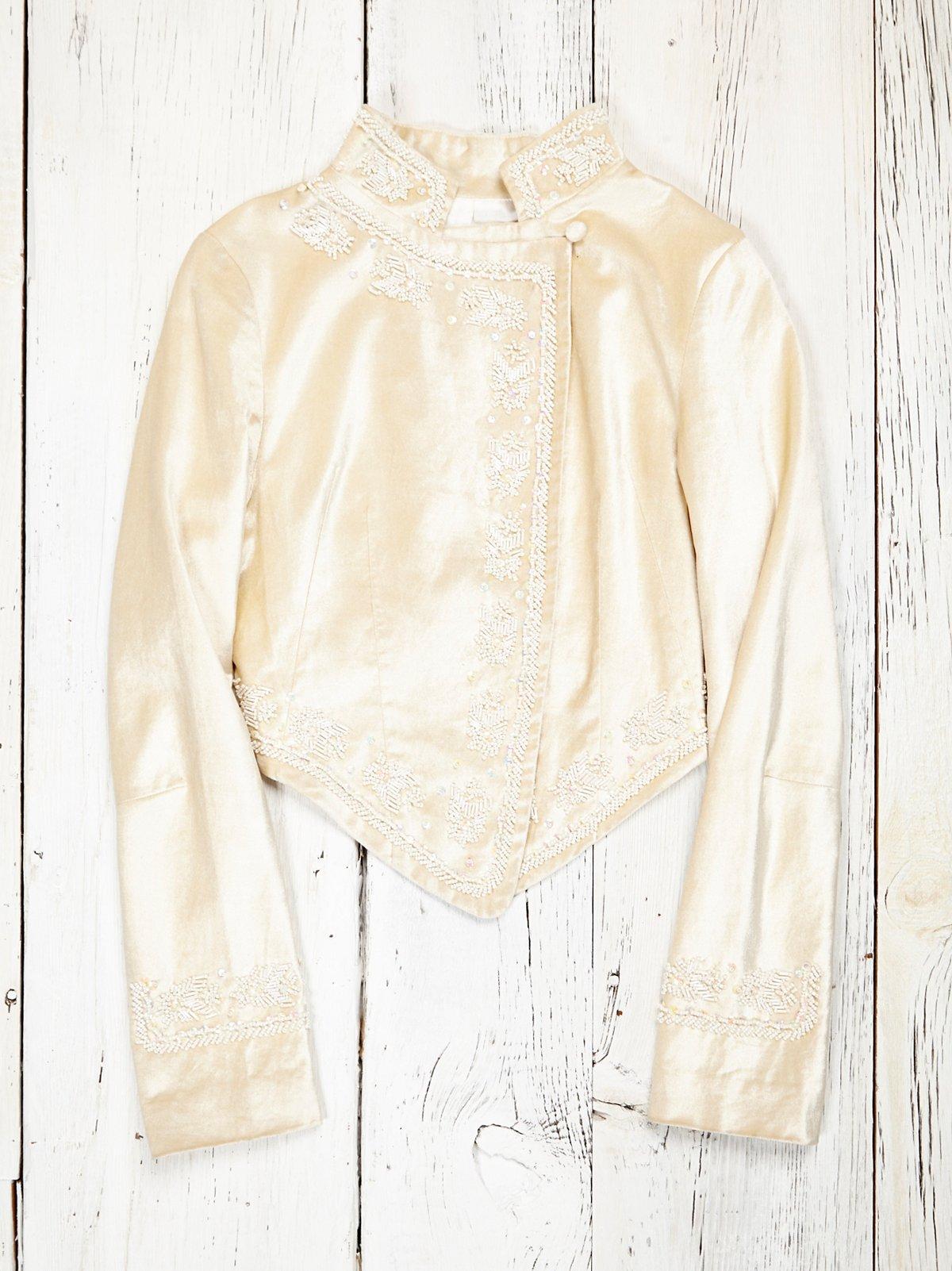 Vintage Cream Velvet Blazer