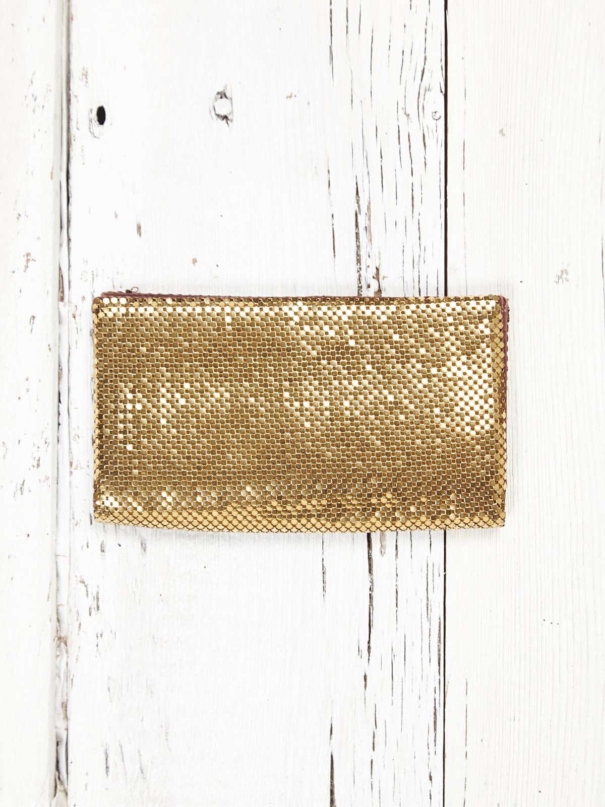 Vintage Whiting and Davis Gold Metal Wallet