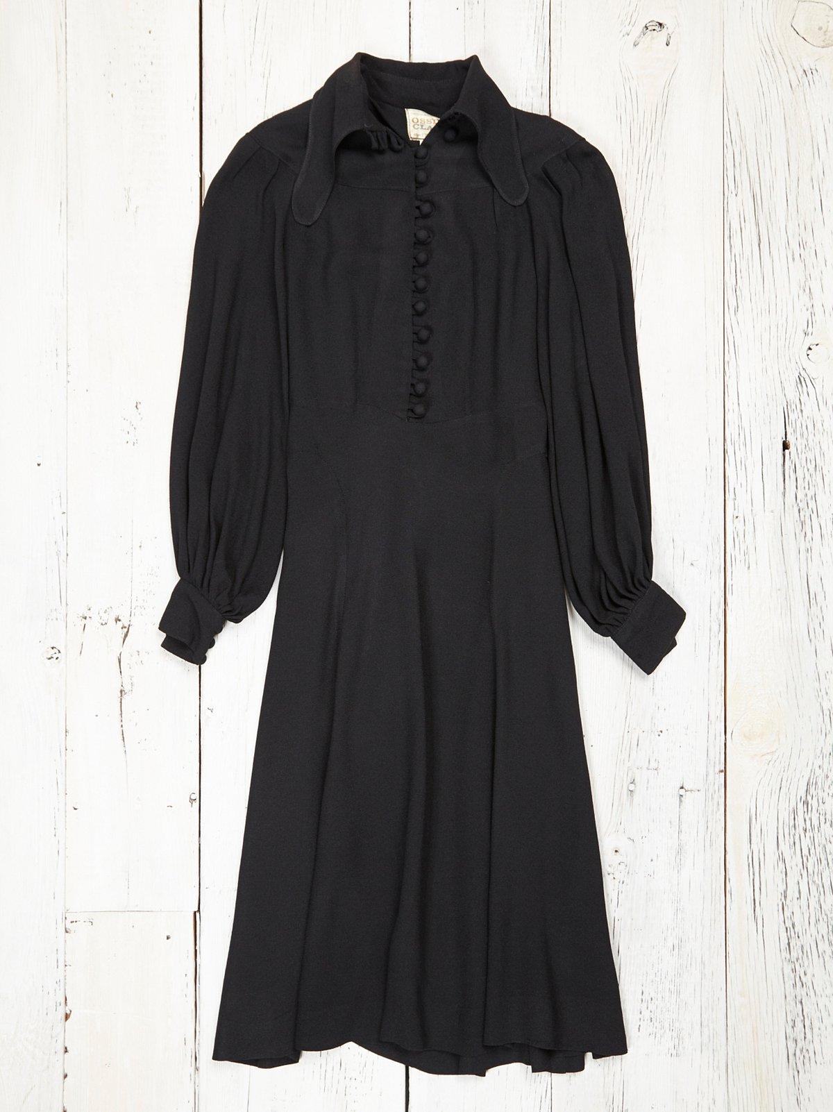 Vintage Ossie Clark Moss Crepe Day Dress