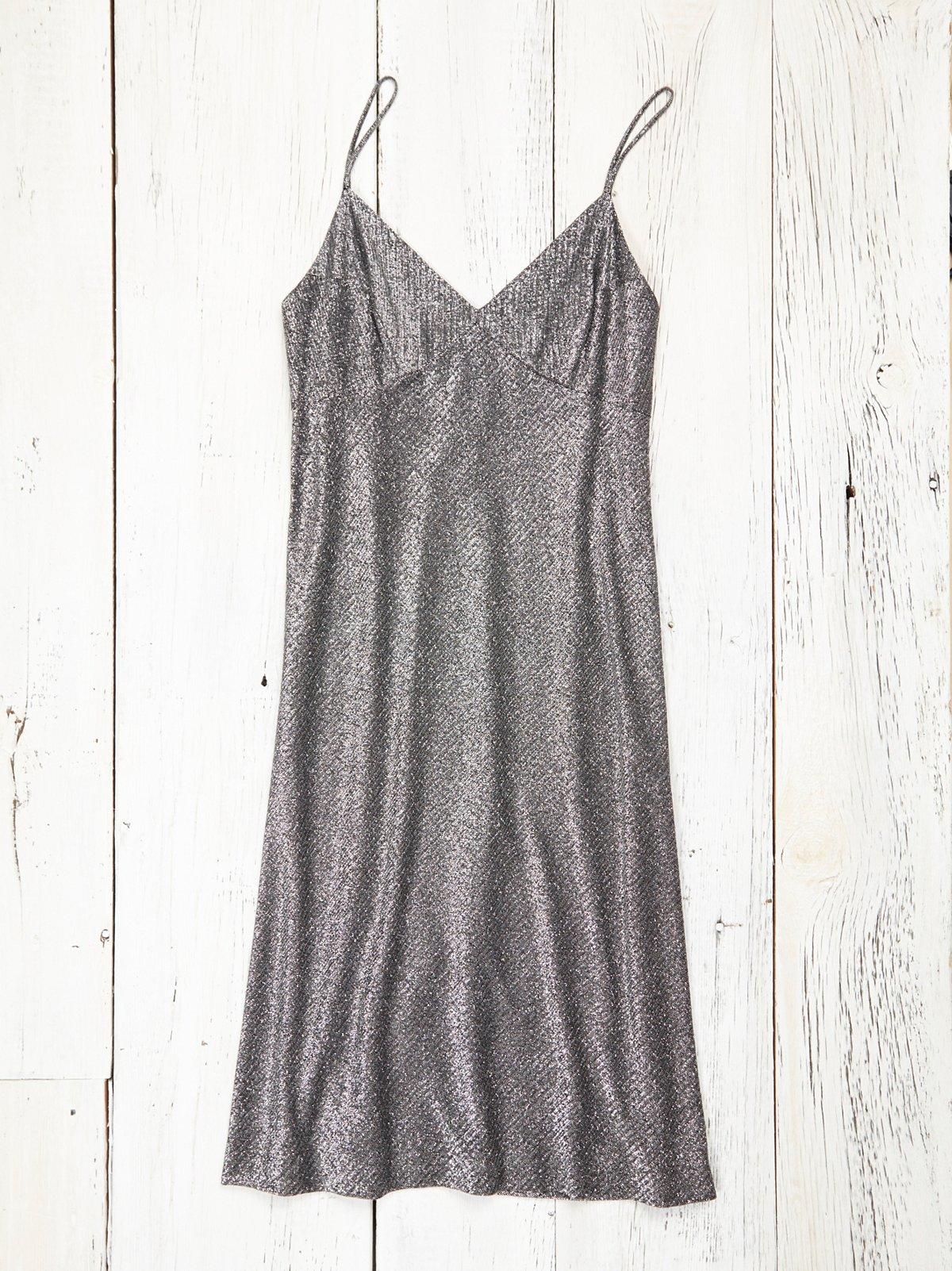 Vintage 1970s Metallic Dress