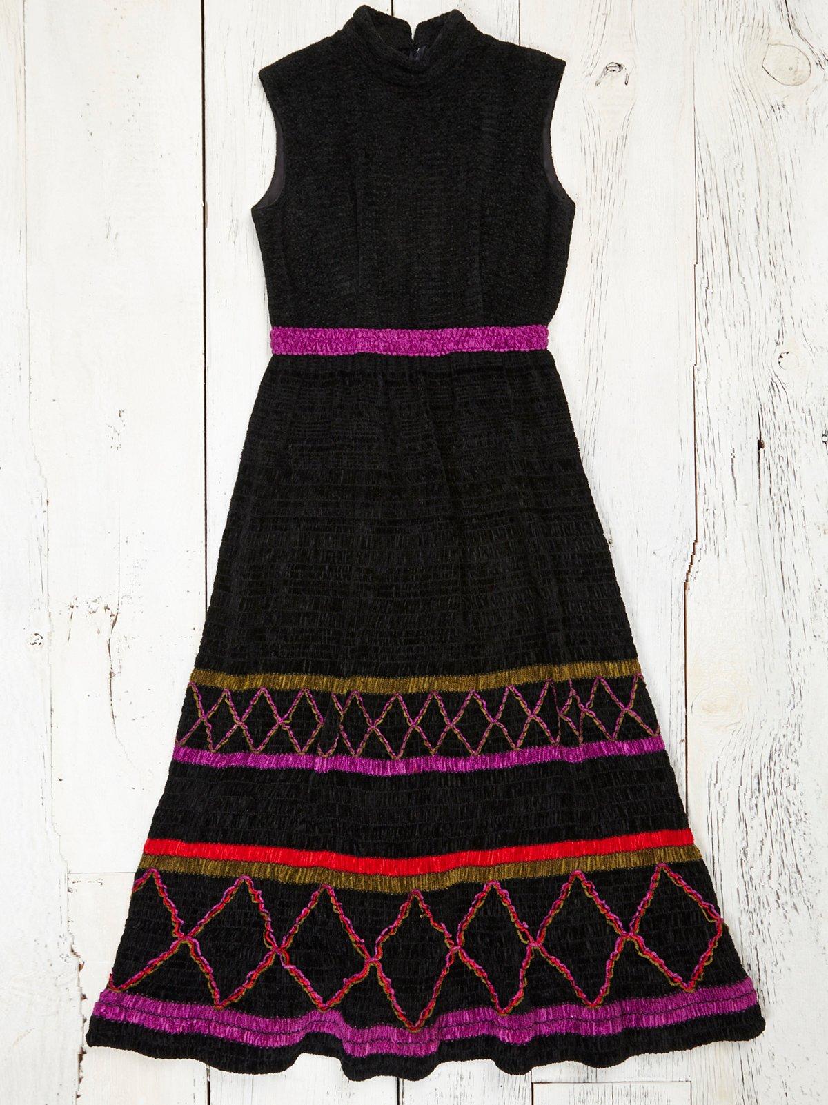 Vintage 1970s Chenille Dress