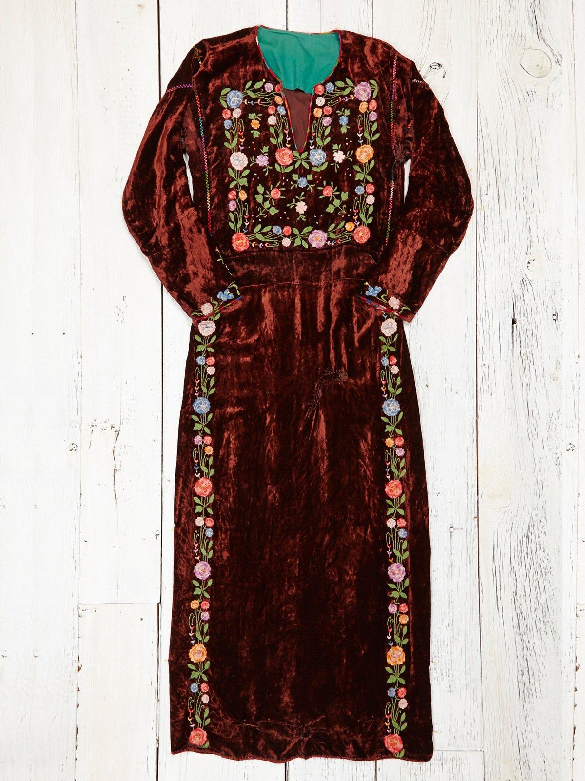 Vintage Handmade Velvet Dress