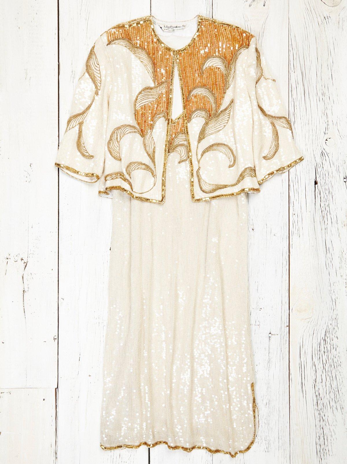Vintage Two Piece Sequin Dress