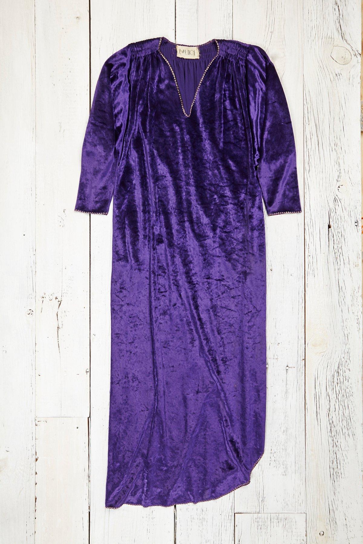 Vintage 1970s Velvet Dress