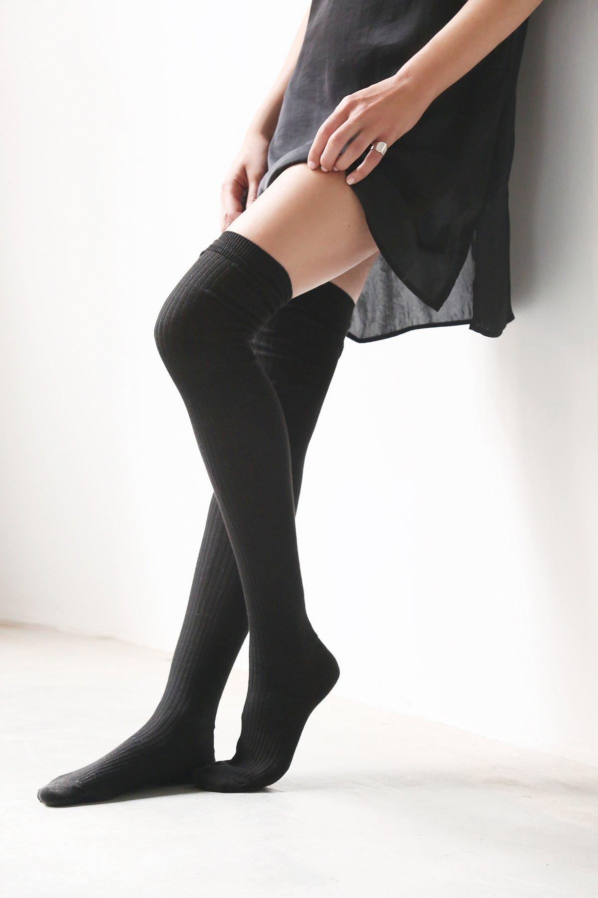 Aran过膝长袜