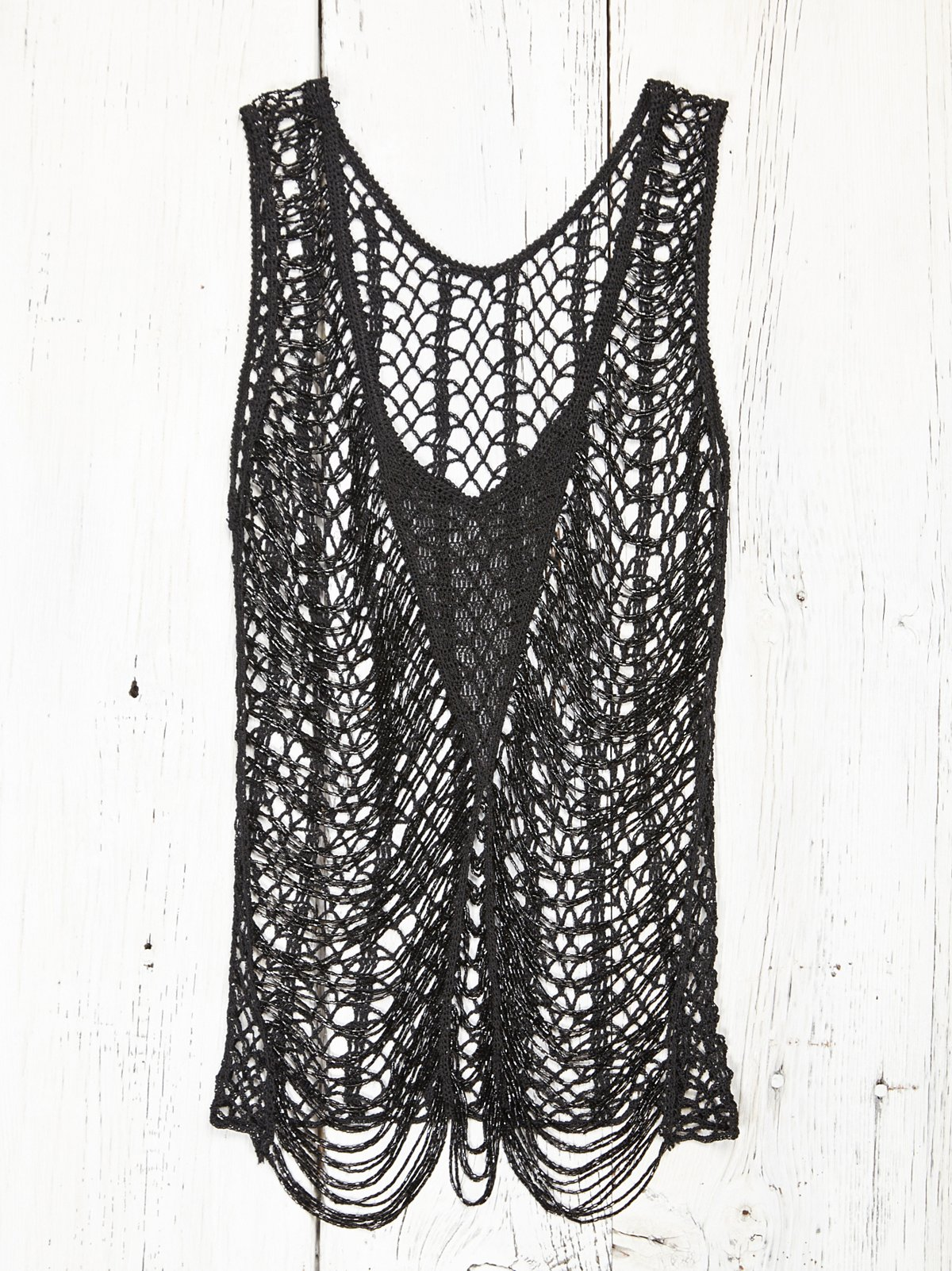 Vintage Black Beaded Tank Top