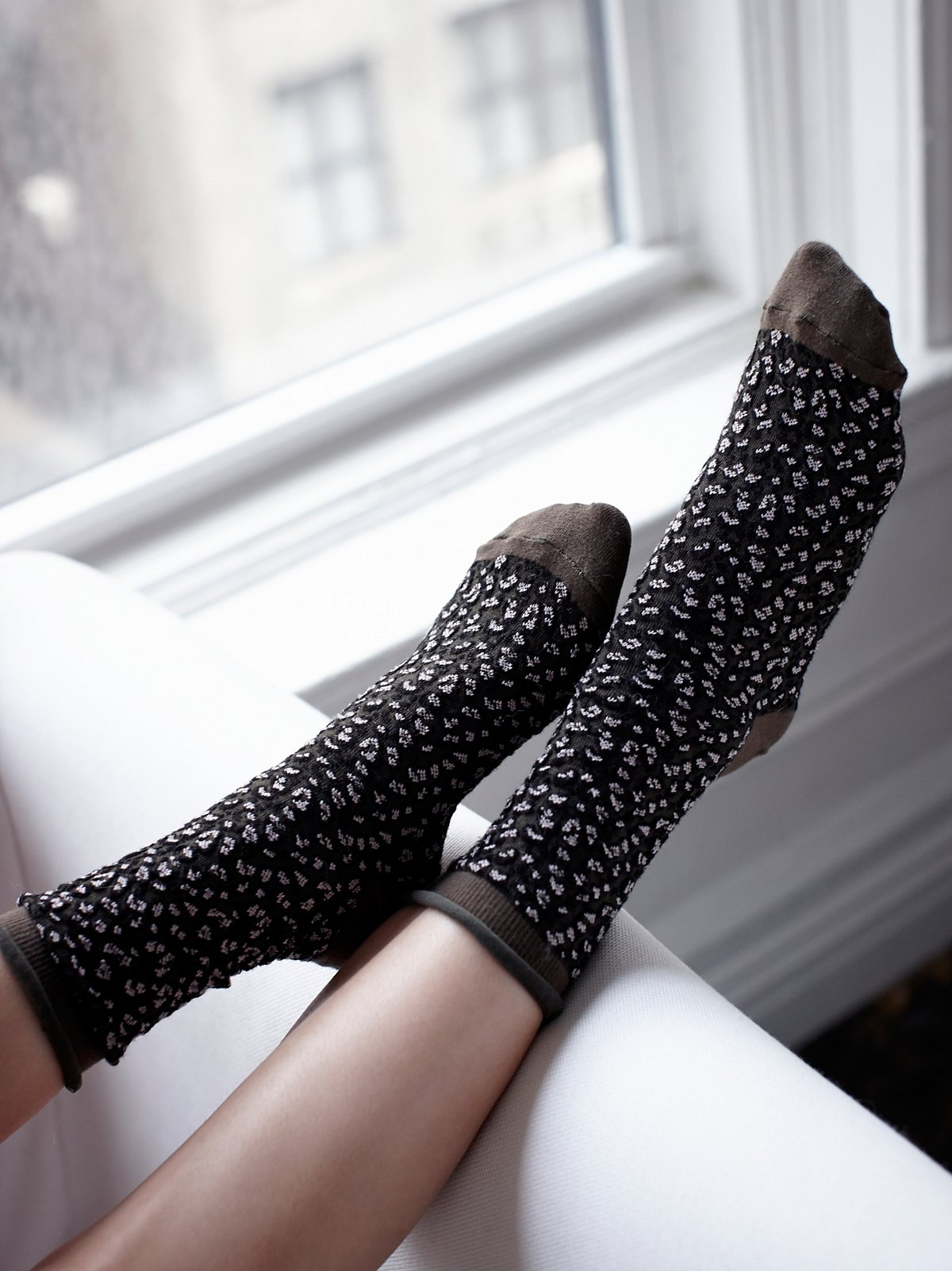 Channeling Dots Crew Sock
