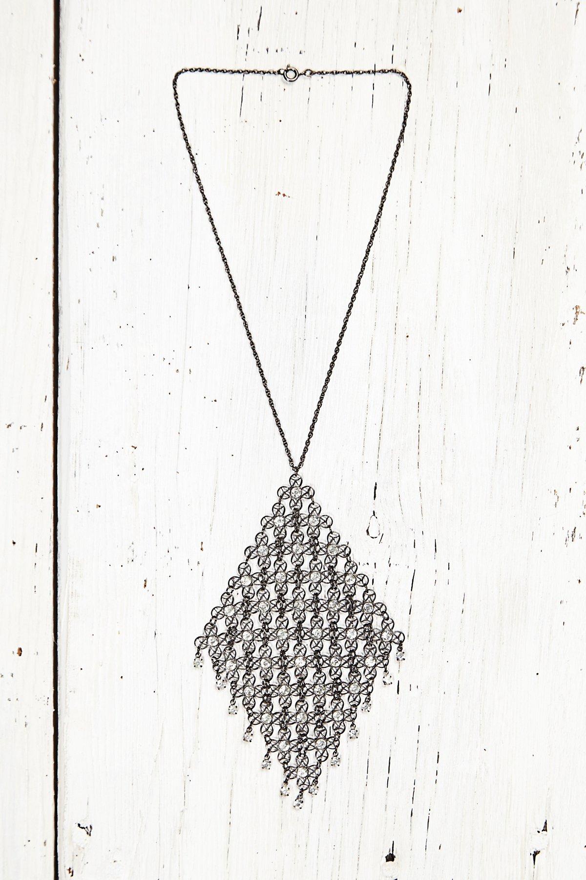 Vintage Mesh Rhinestone Necklace