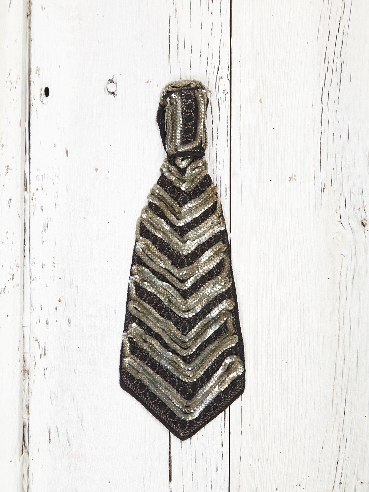 Vintage Sequin Tie Necklace