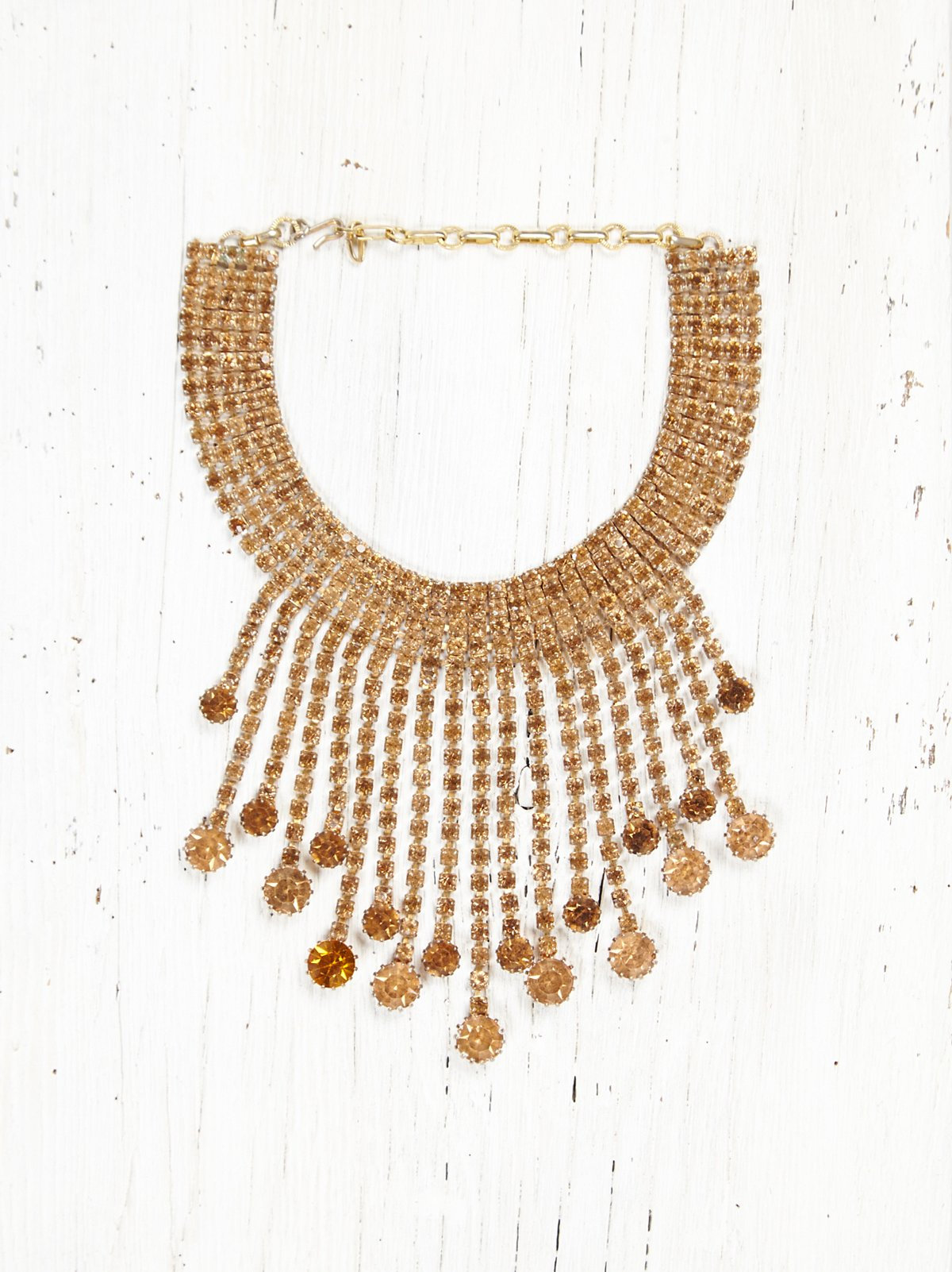 Vintage Necklace with Amber Gems