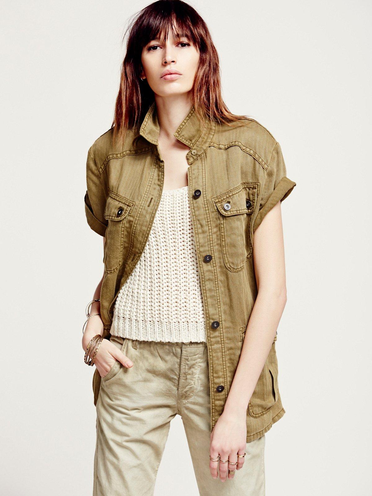 Short Sleeve Rugged Shirt Jacket