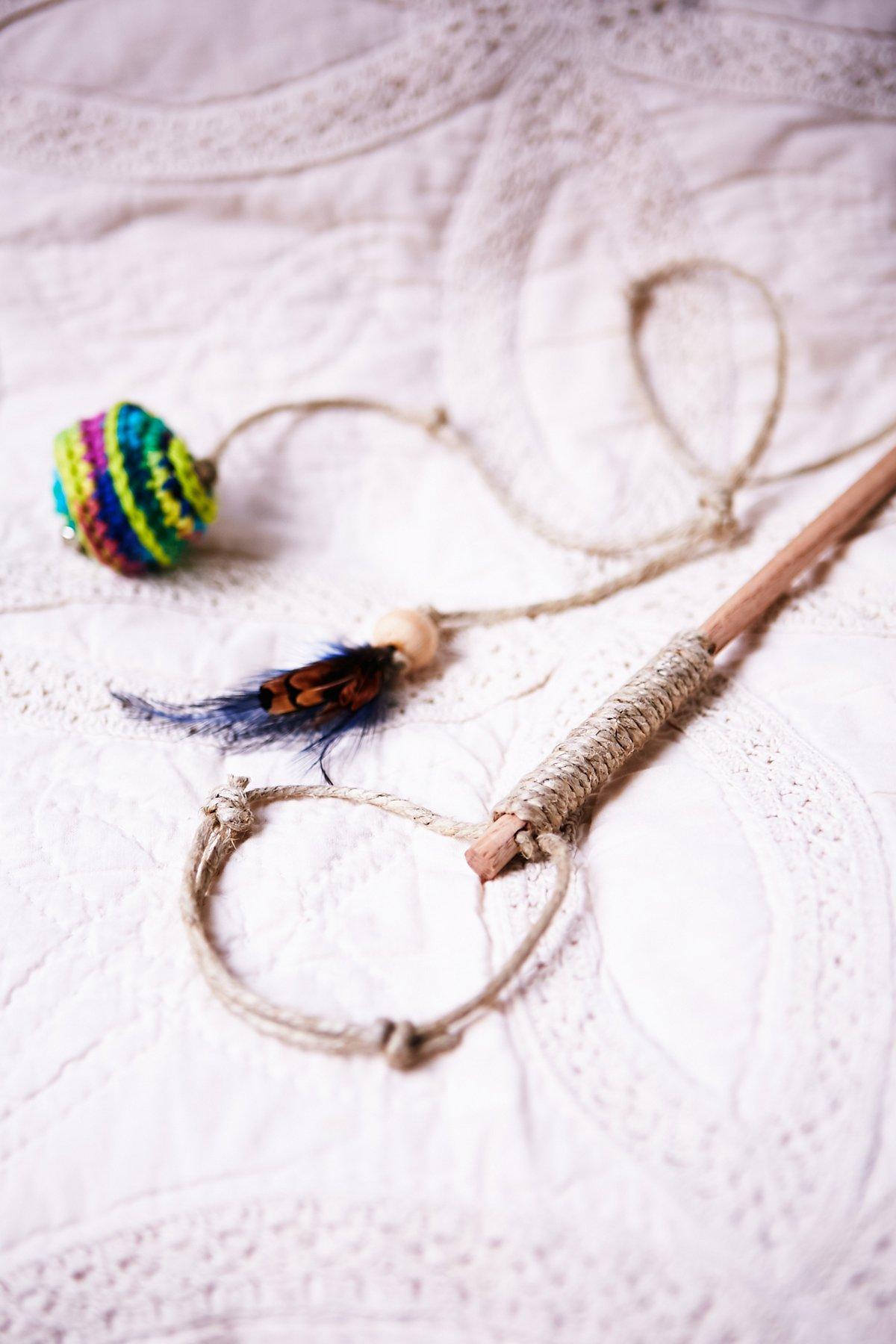 Handmade Wand Cat Toy
