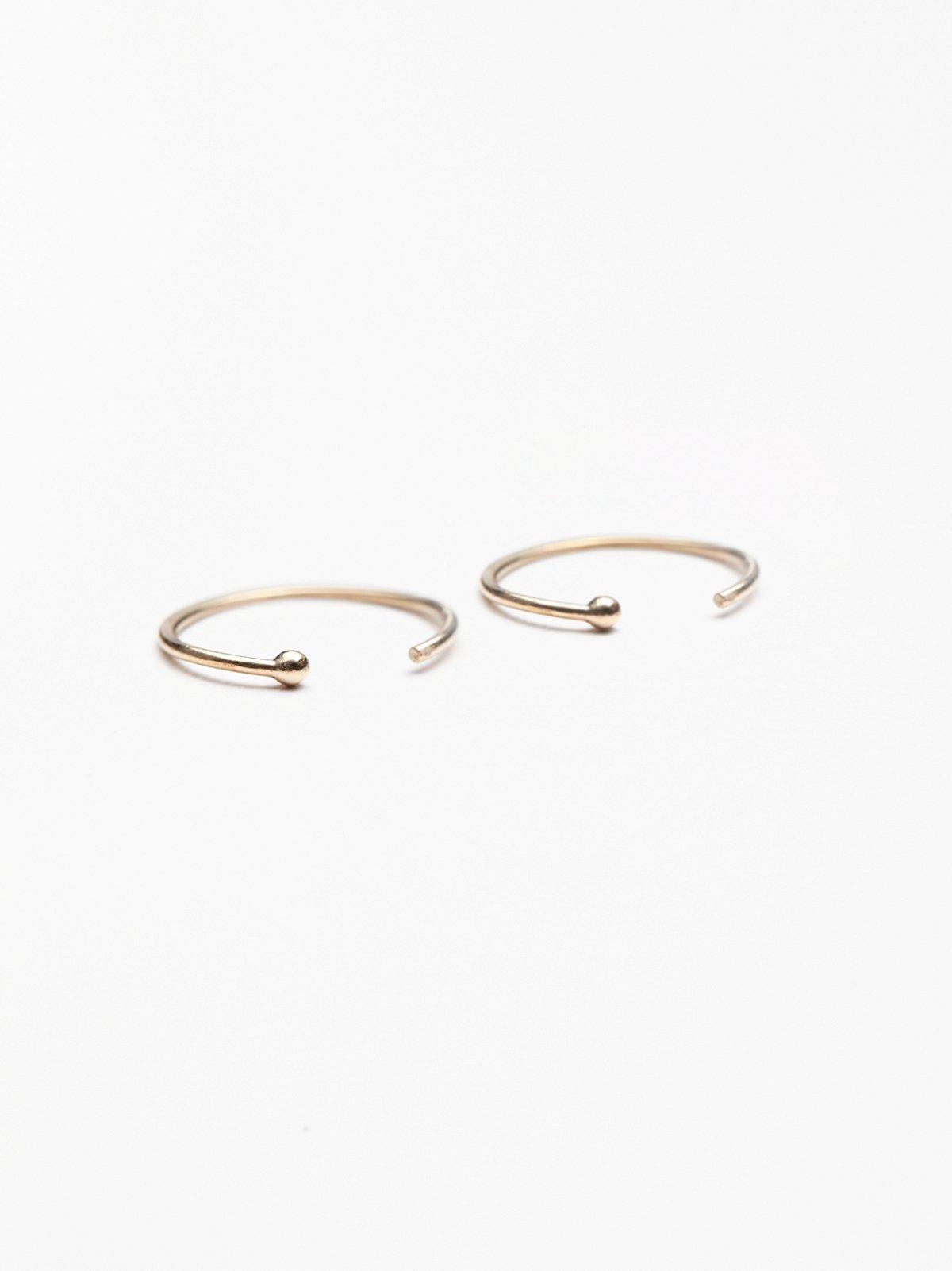 Gold Ear Hugging Hoops
