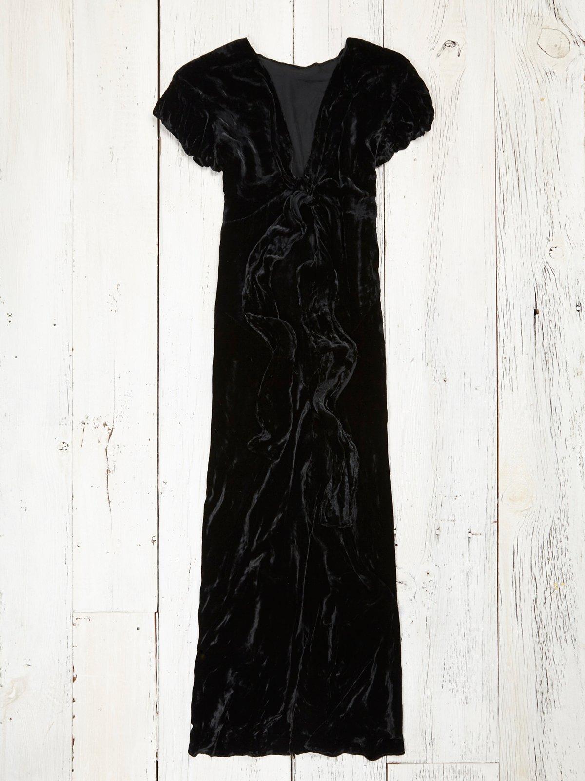 Vintage 1940s Velvet Dress