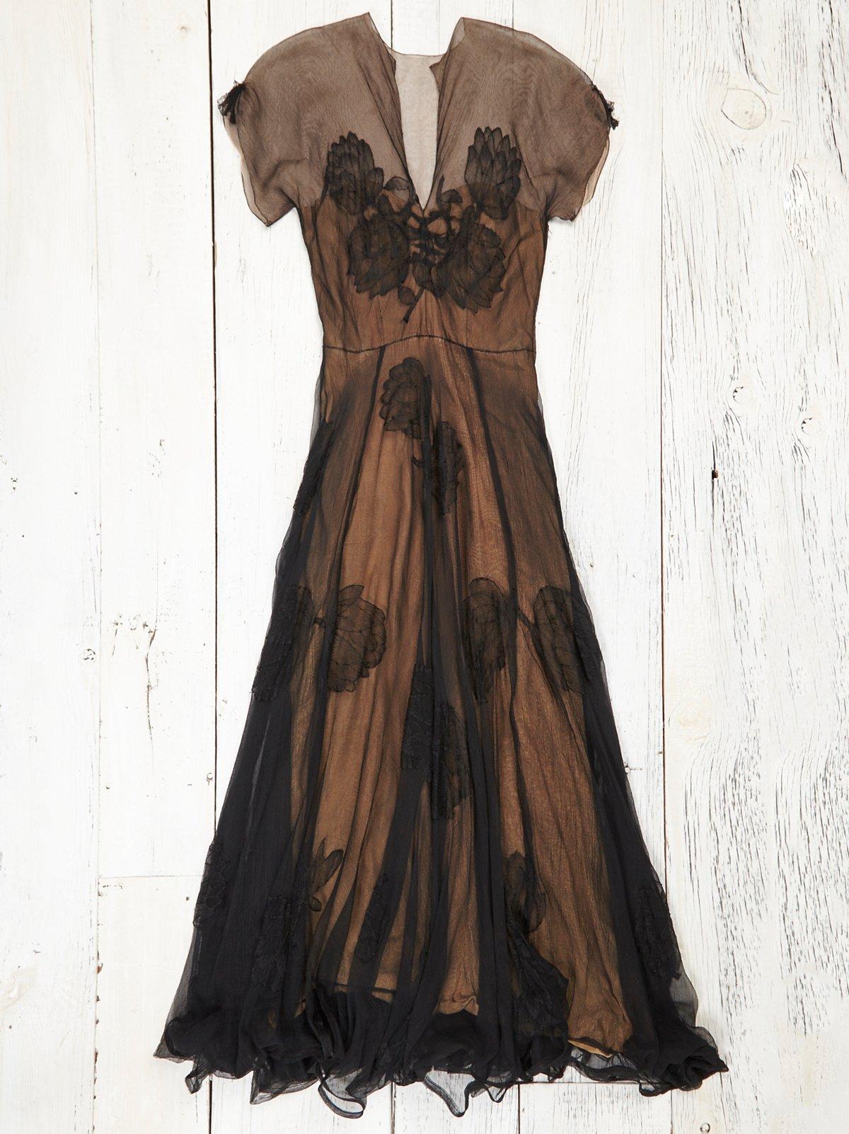 Vintage 1940s Lace Gown