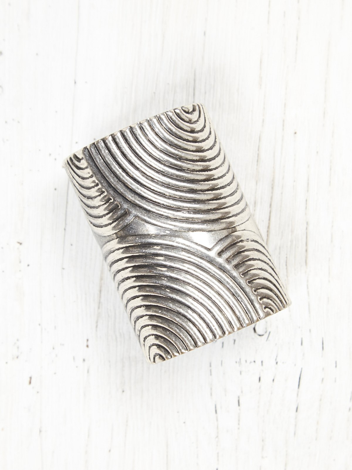 Vintage Silver Etched Bangle