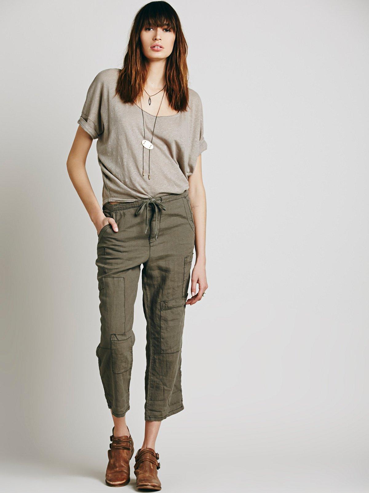 Cropped Utility Pant W/抽绳裤装