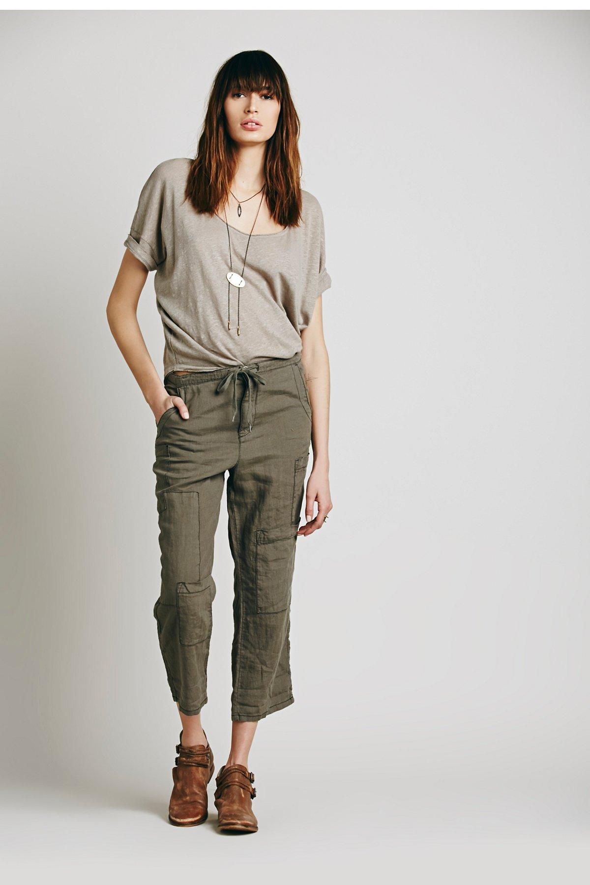 Cropped Utility Pant W/ Drawstring