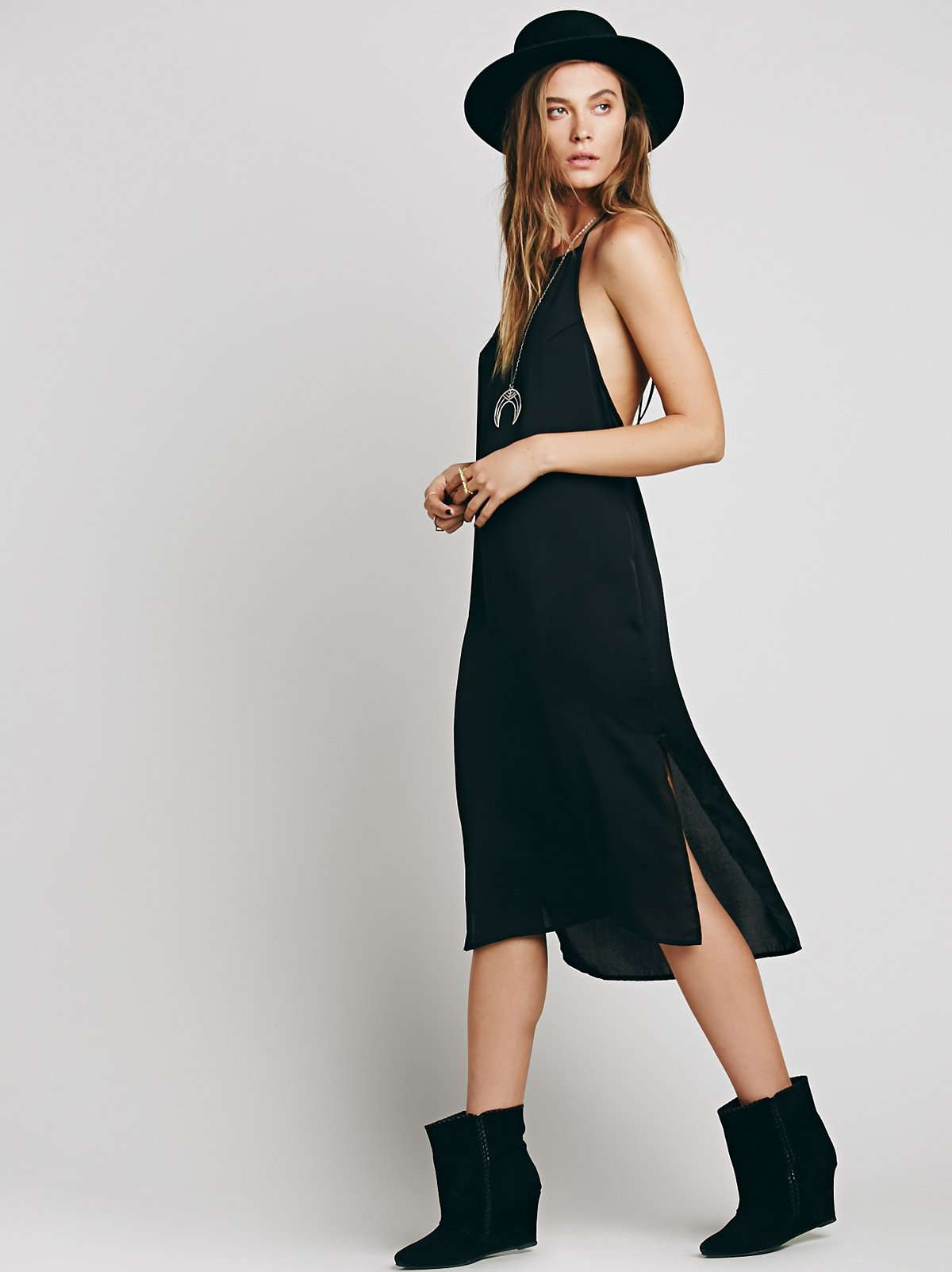 Pieced Out Slip Dress