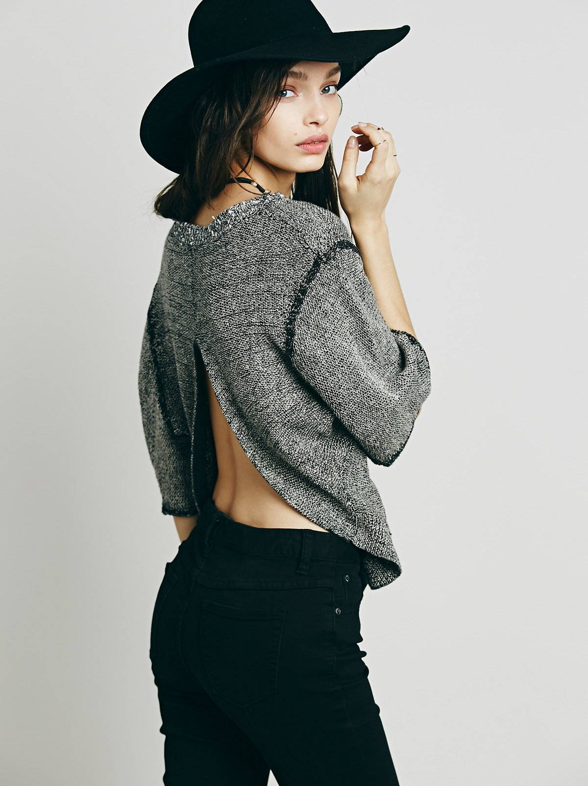 Open Back Boxy Short Sleeve Pullover