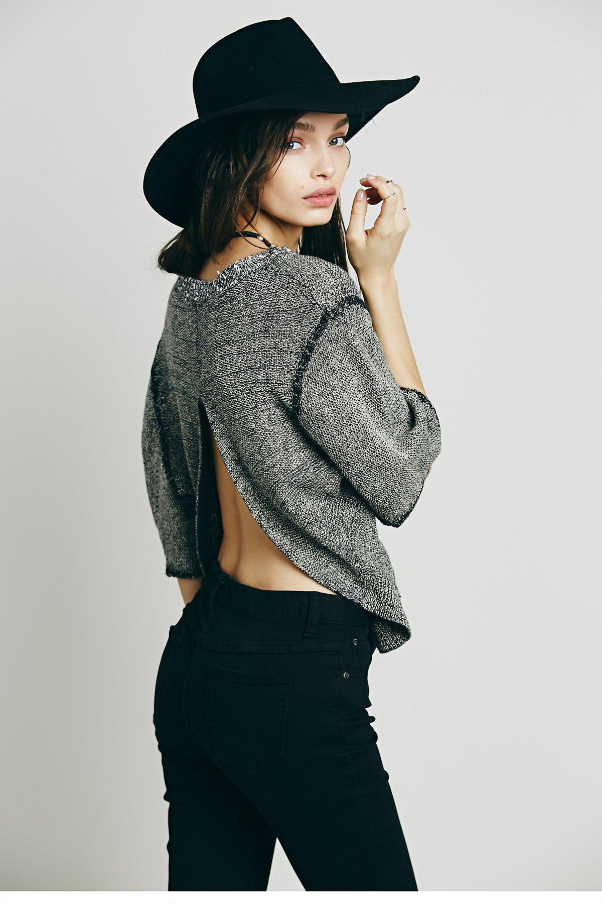 Open Back Boxy Short Sleeve Pullover