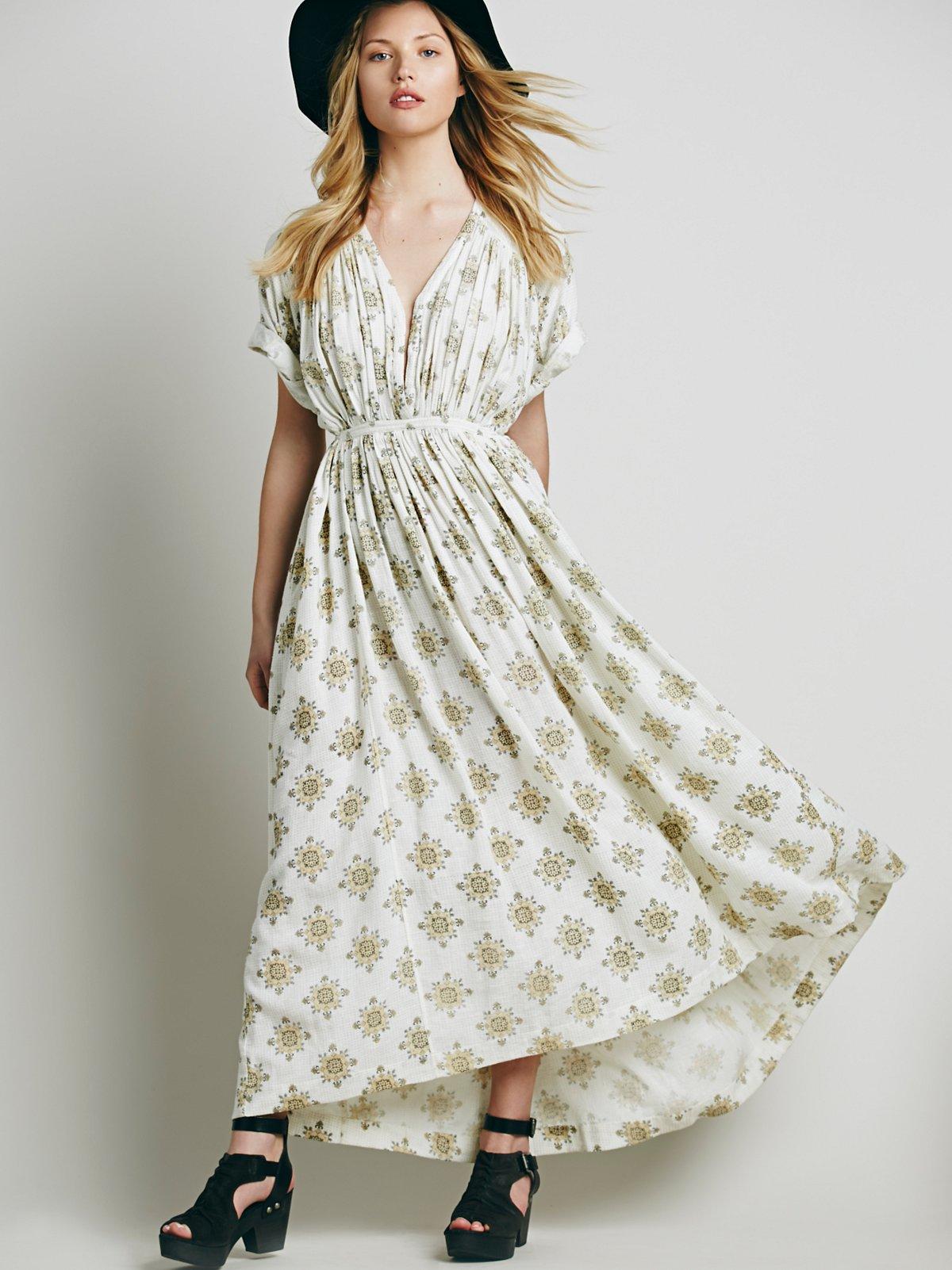 印花Oasis连衣裙