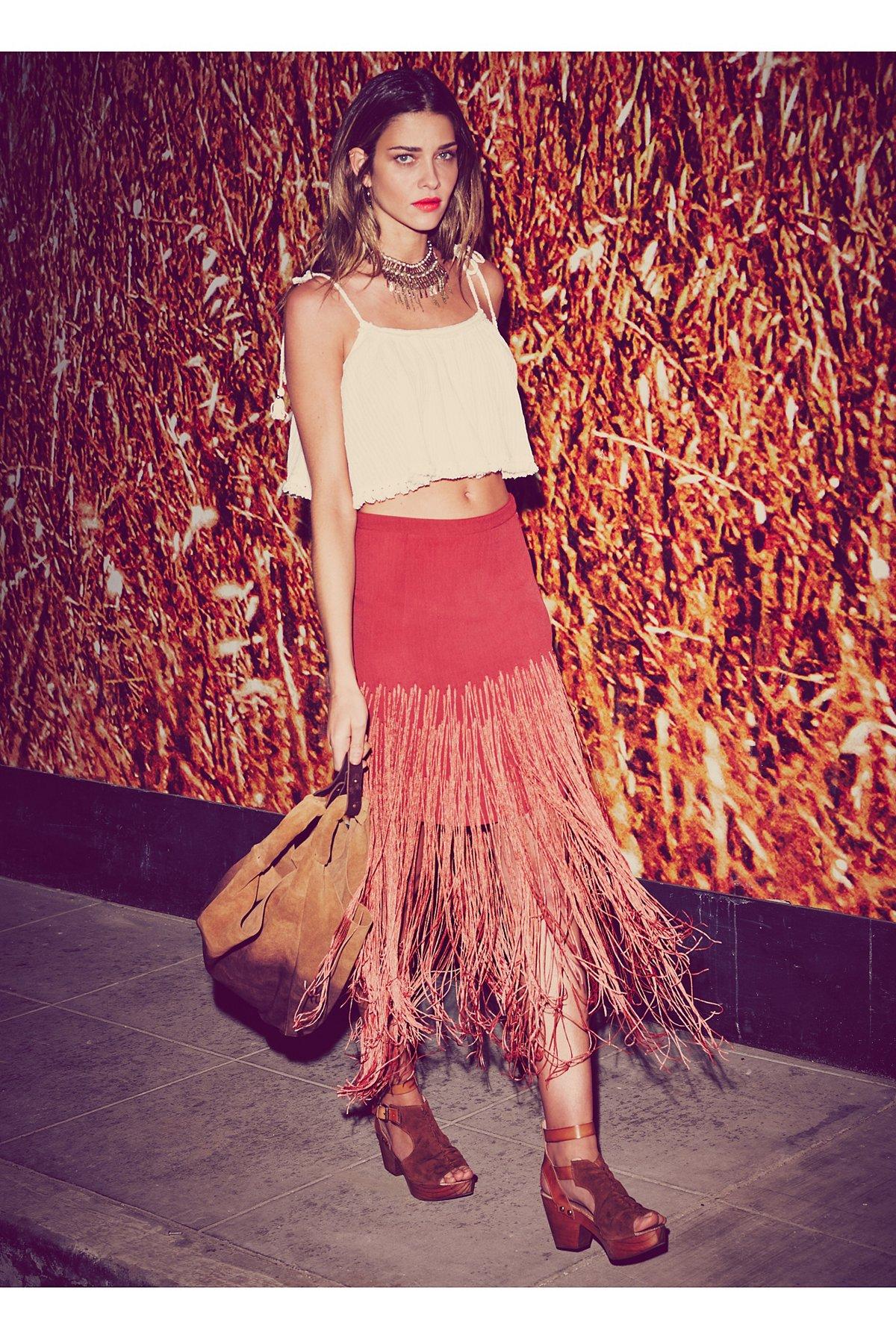 Aubrie Fringe Skirt