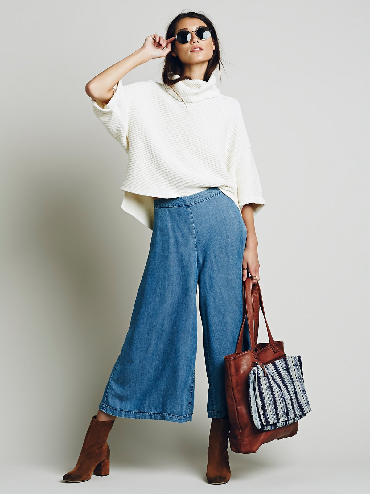 High Rise Chambray Gaucho