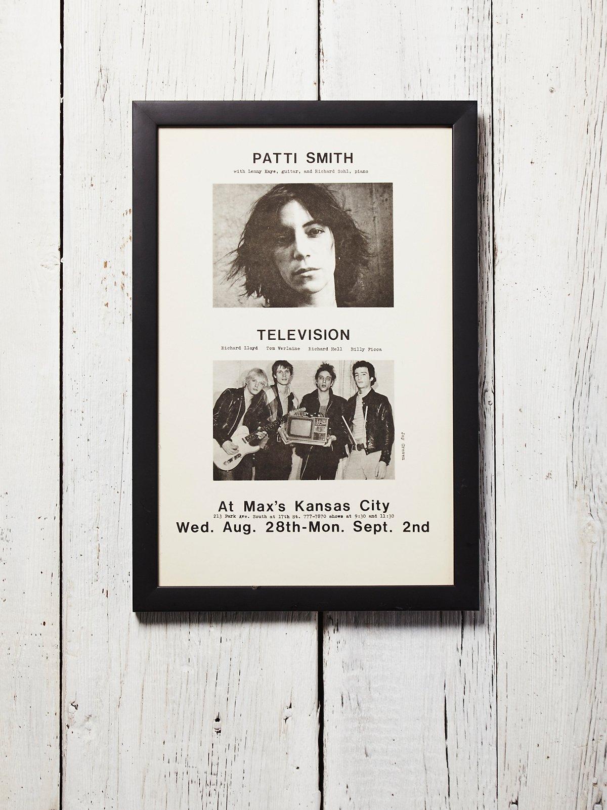 Vintage Patti Smith Tour Poster
