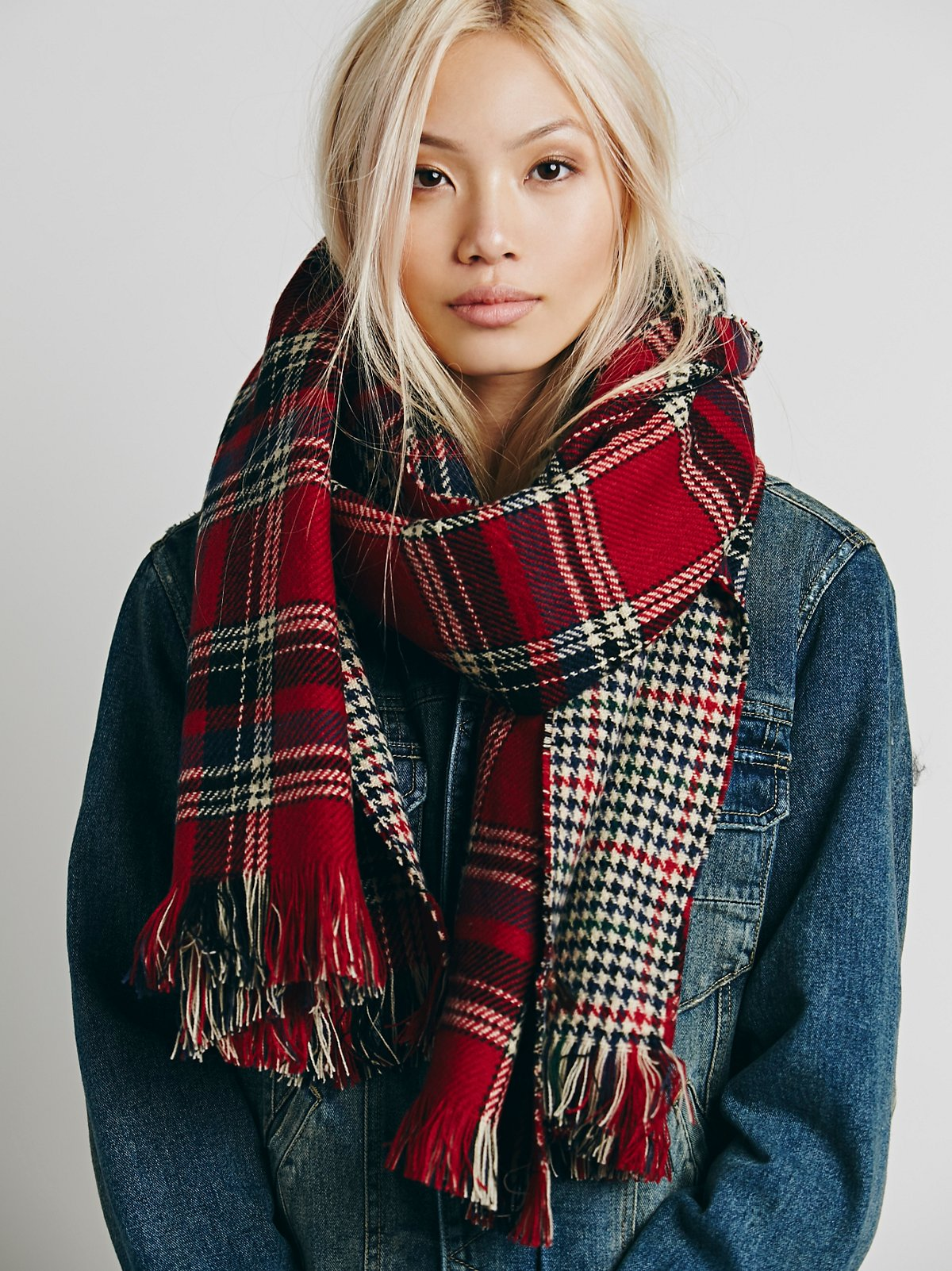 Edinburg Double Sided Plaid Scarf